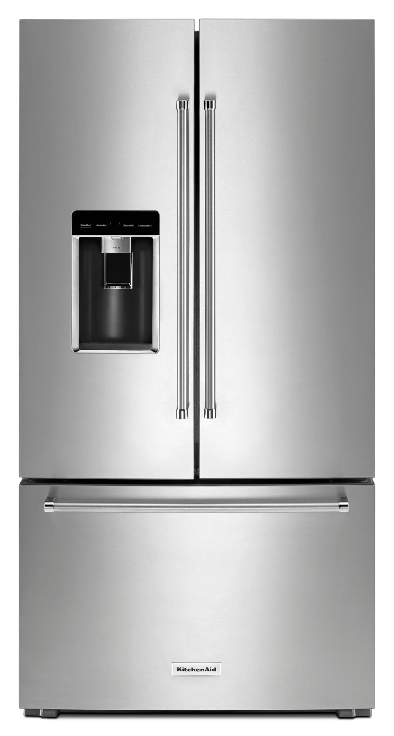 Refrigerators and Freezers - KitchenAid Stainless Steel Counter-Depth French Door Refrigerator (23.8 Cu. Ft.) - KRFC704FPS