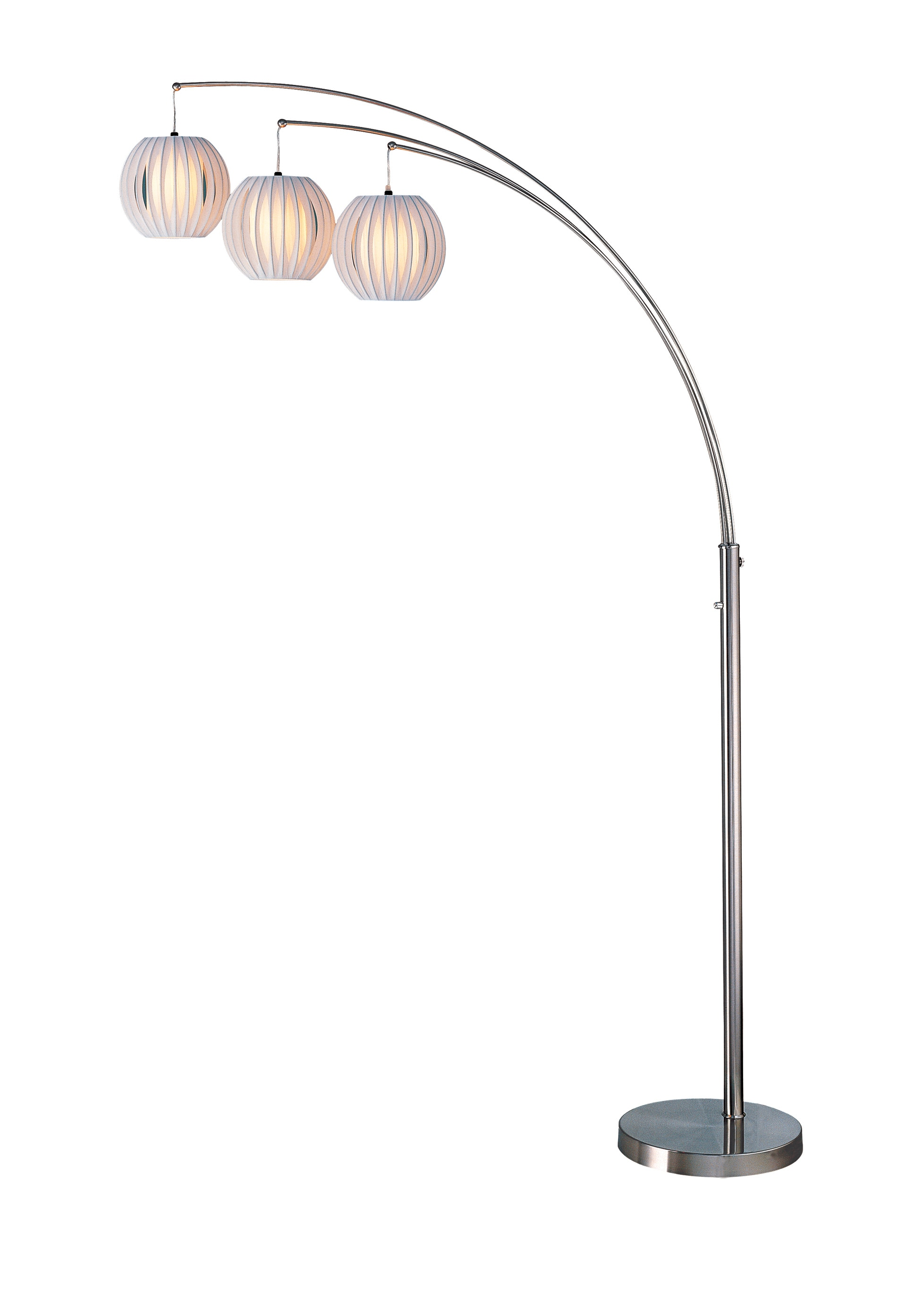 Callisto Floor Lamp with White Shades