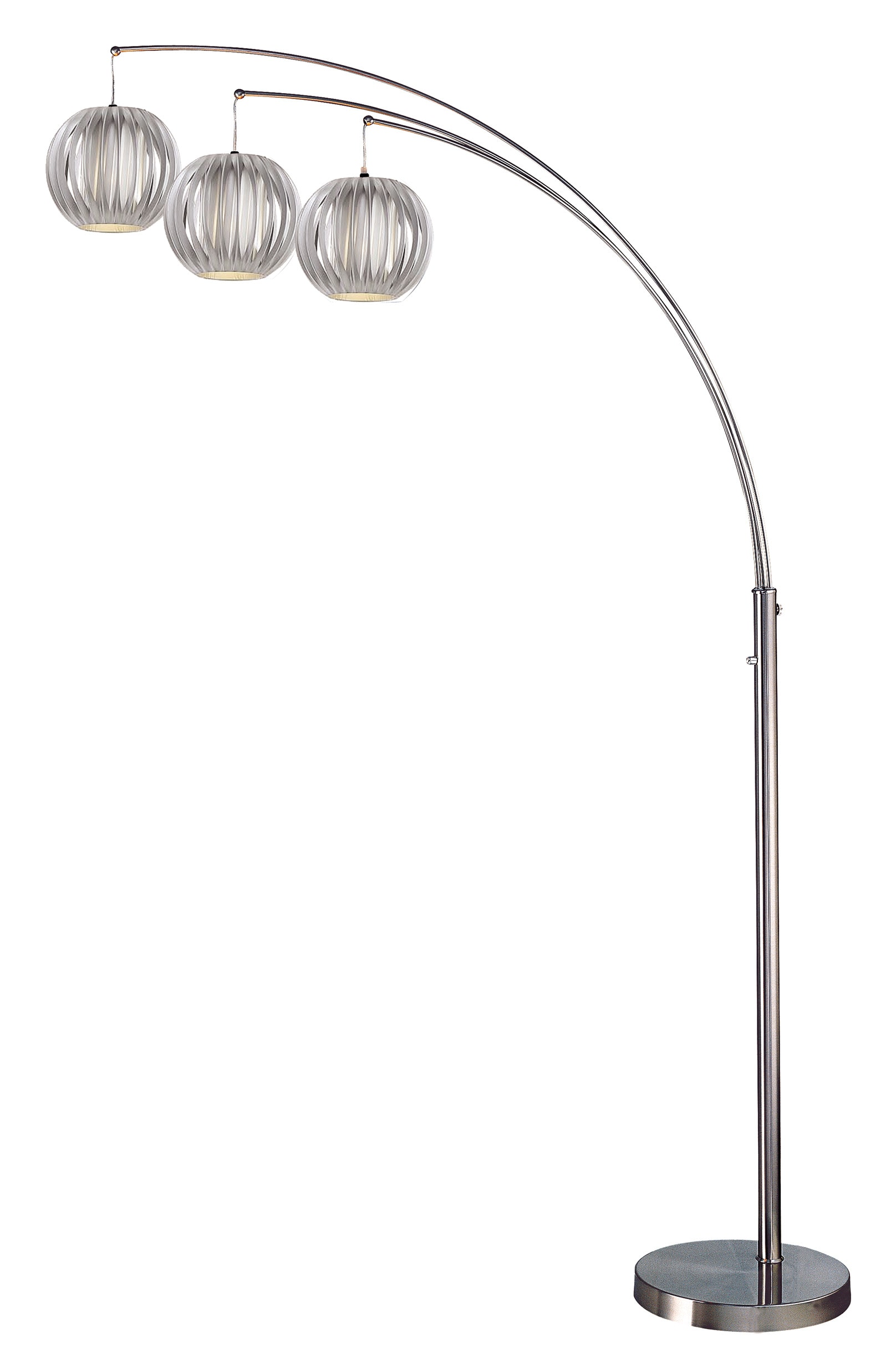 Cassini Floor Lamp with Gray Shades