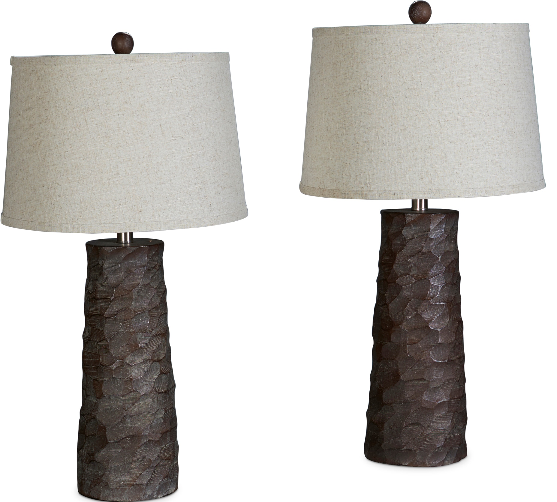 Table Lamps - Faux Wood