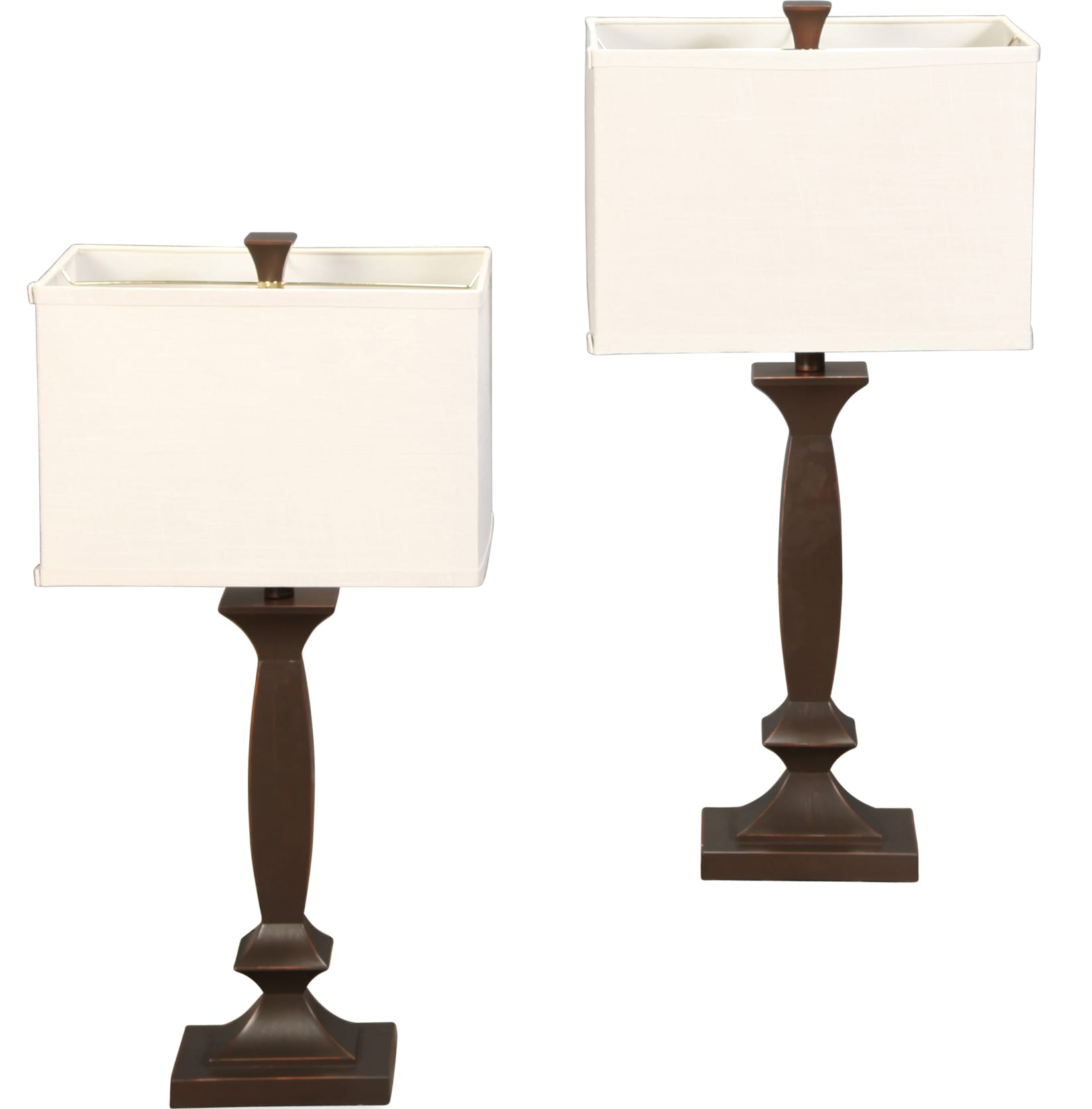 Table Lamps - Bronze Candlestick