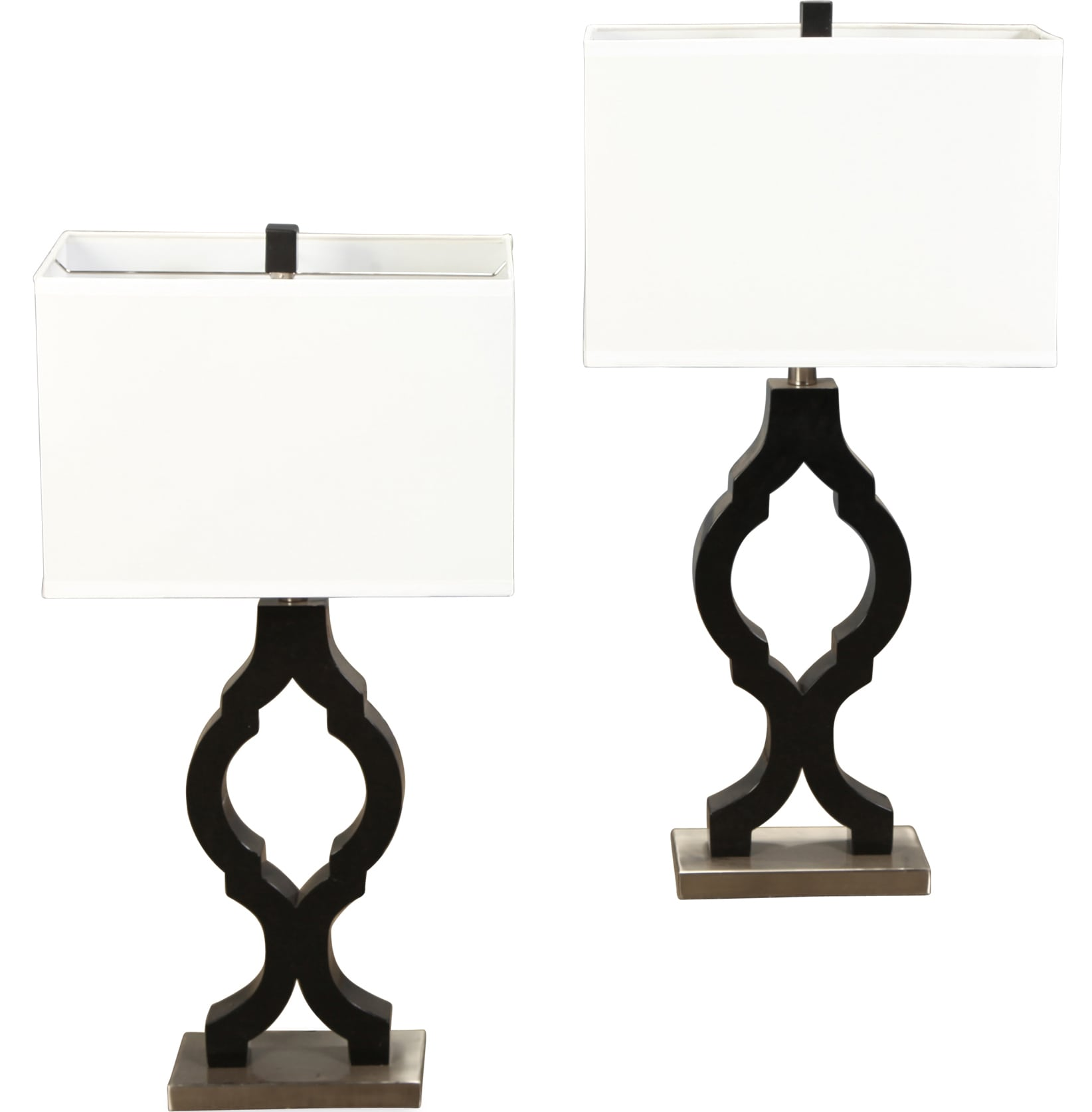 Home Accessories - Table Lamps - Black Oval