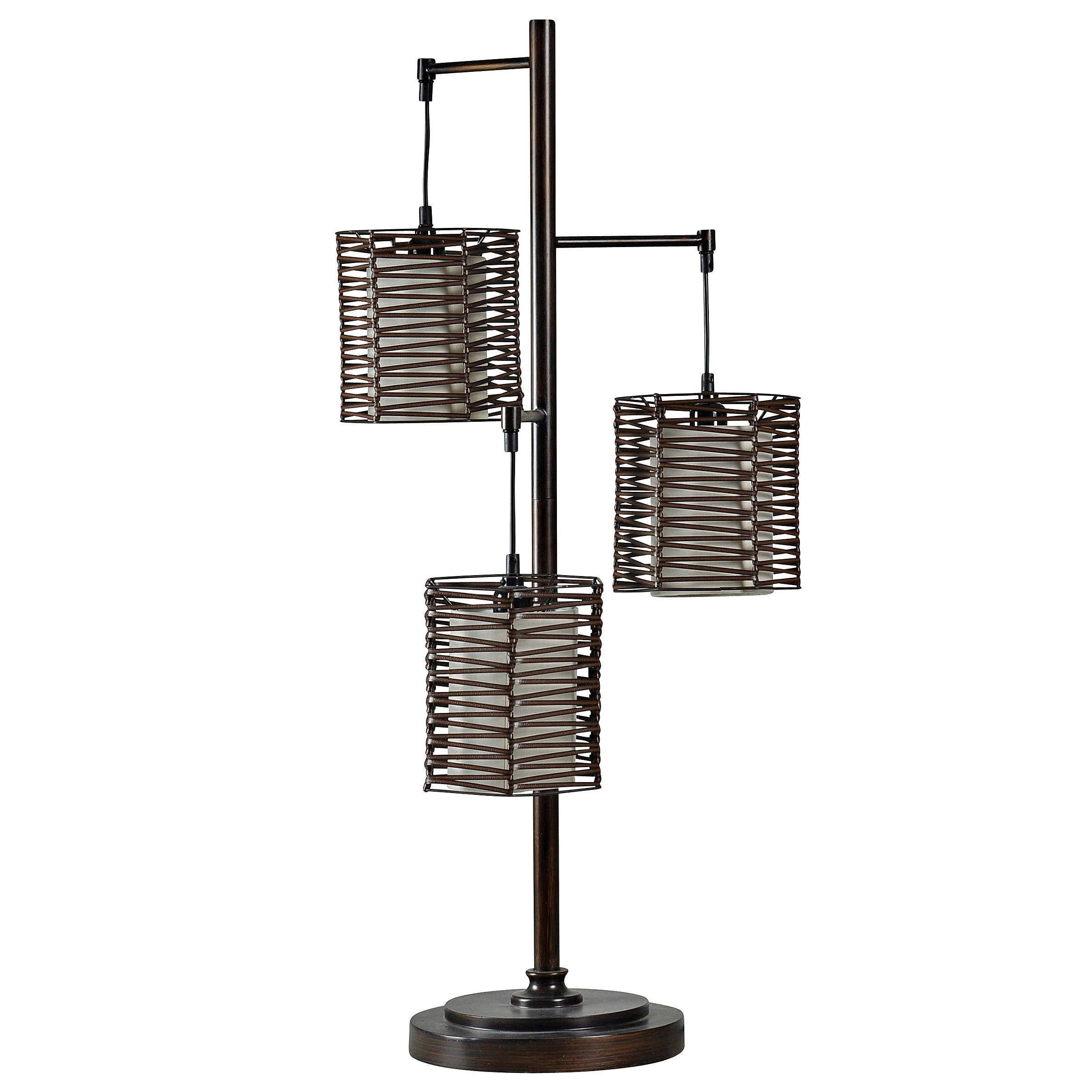 Pandora I 3-Rattan Shade Table Lamp