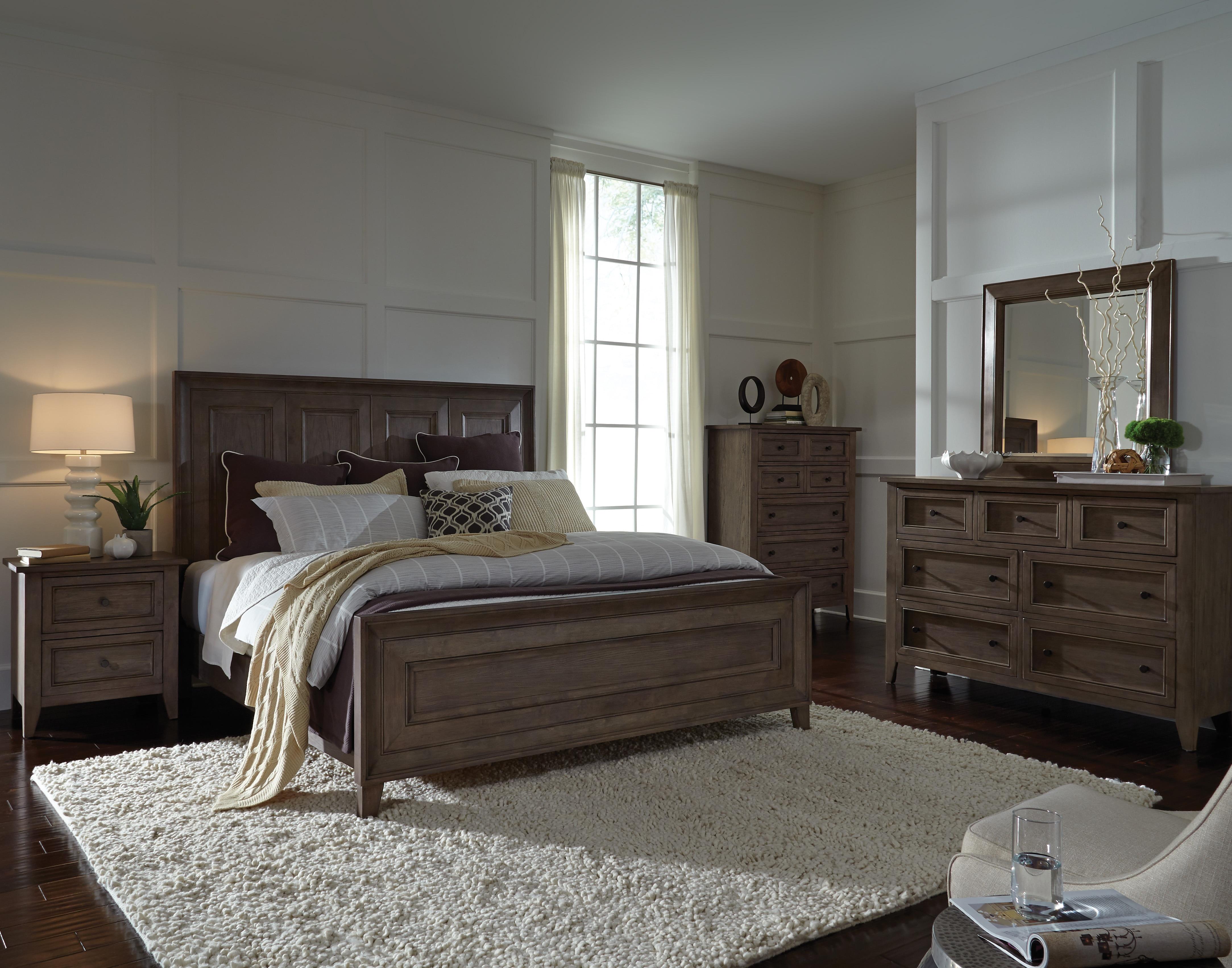 Talbot 4-Piece King Bedroom Set - Driftwood