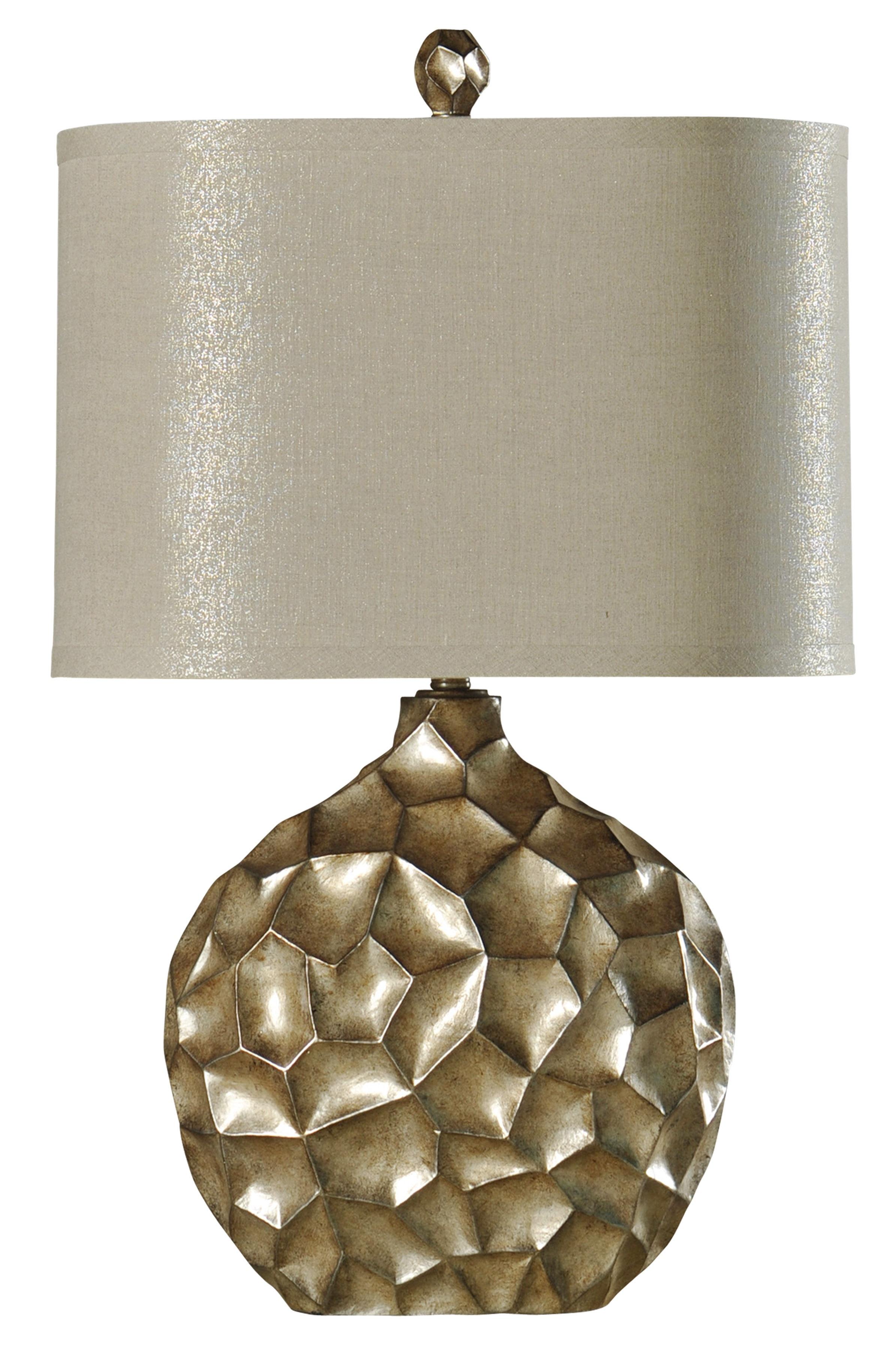 Janus Sculpted Silver Table Lamp