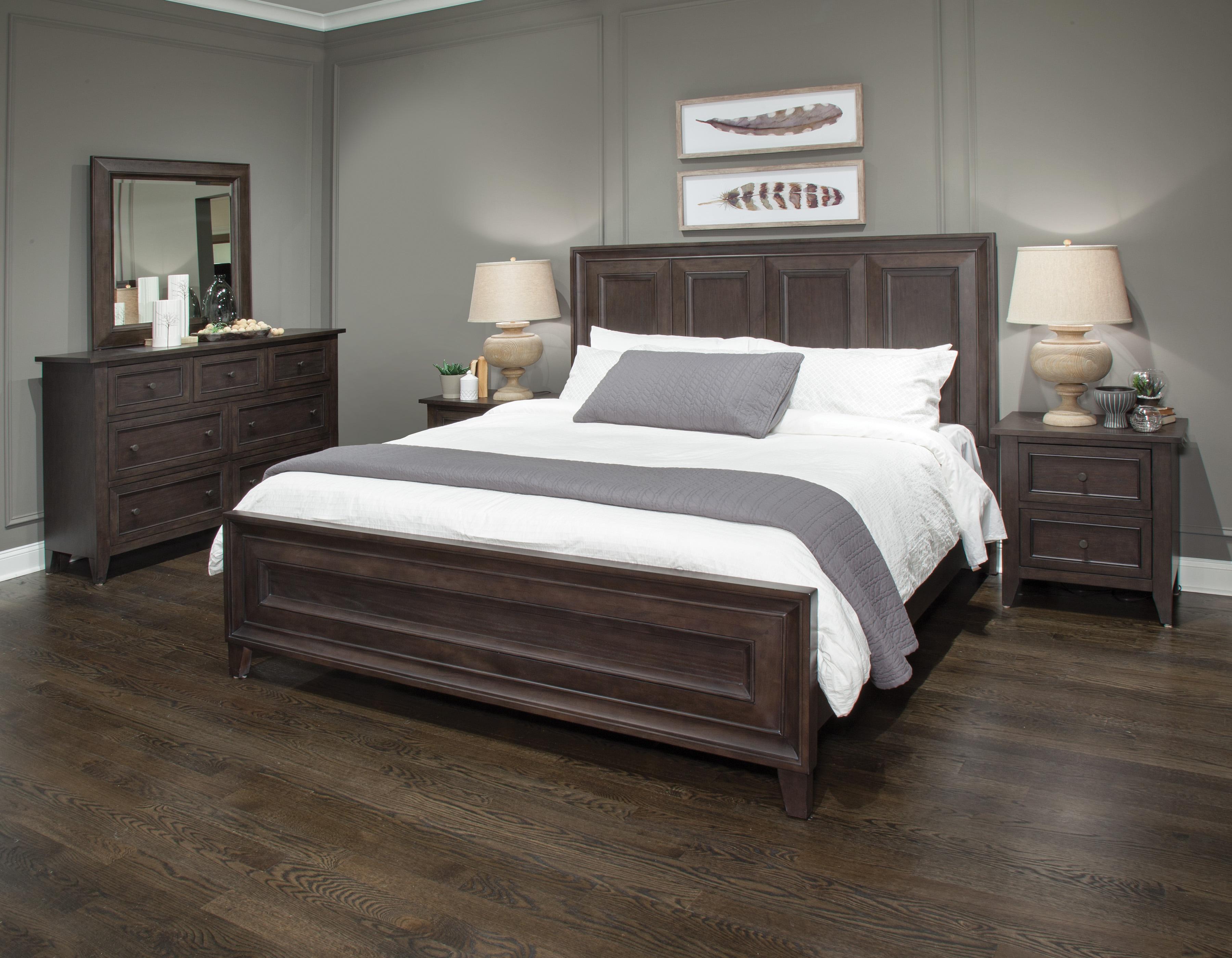 Murray Hill 4-Piece King Bedroom Set - Chestnut