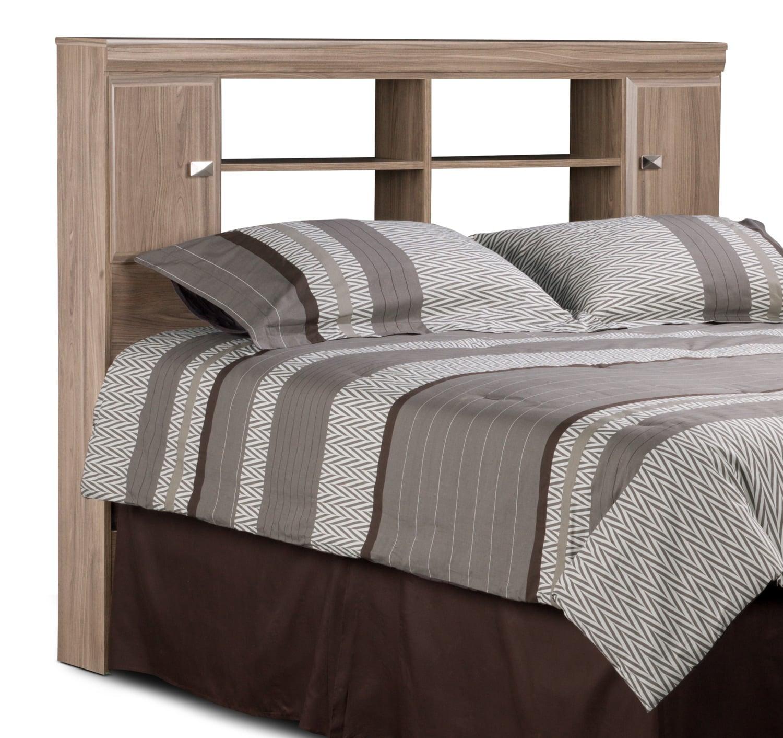 Bedroom Furniture - Yorkdale Light Queen Bookcase Headboard