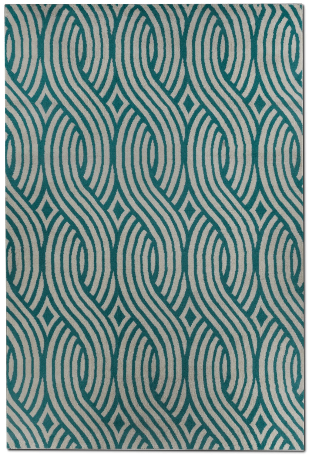 Glendale Outdoor 5' X 7' Area Rug - Blue Wave