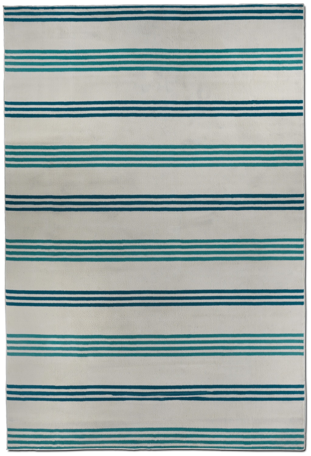 Glendale Outdoor 7' X 9' Area Rug - Blue Stripe