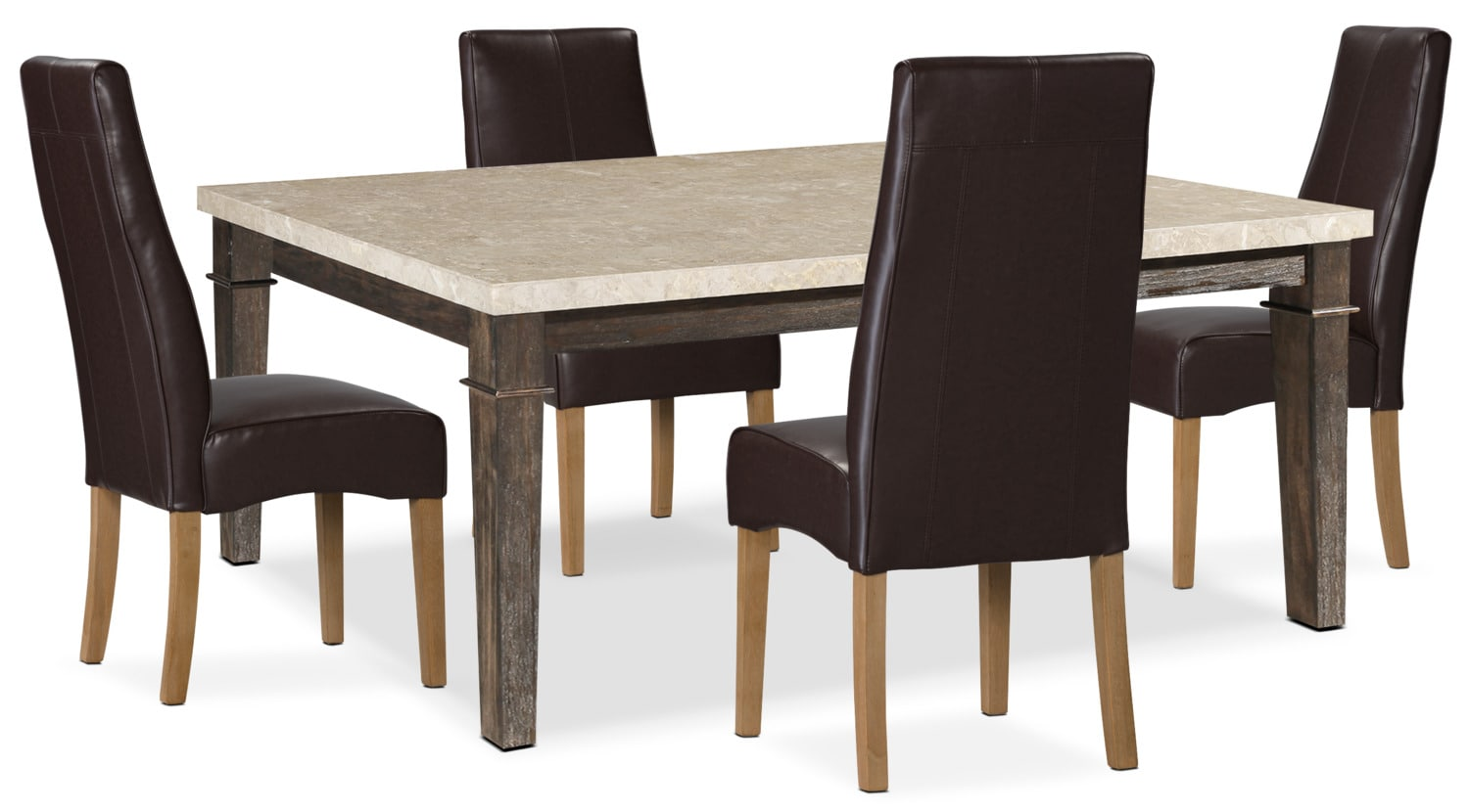 Aldo 5-Piece Dining Package with Colby Dining Chairs