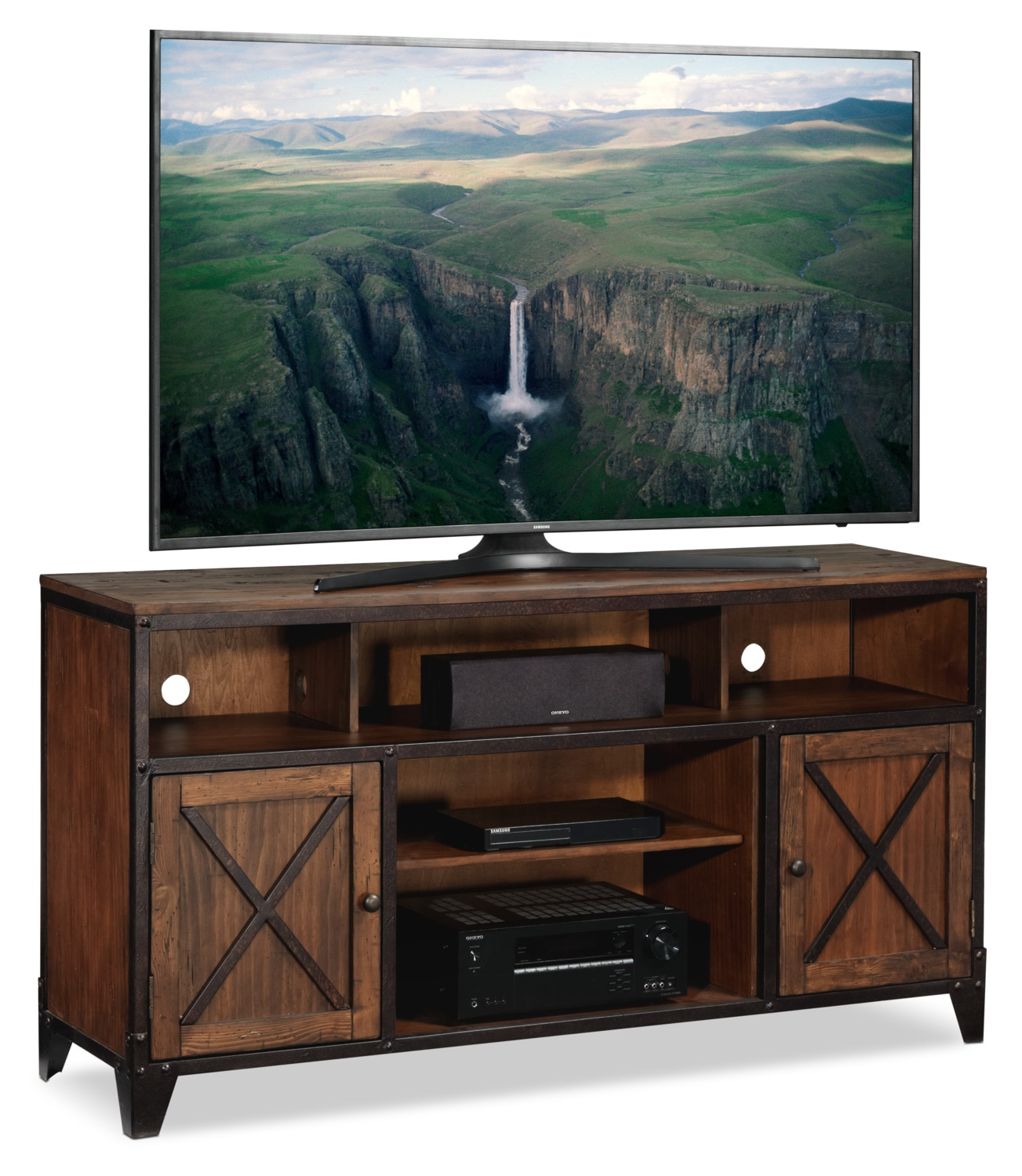 Pinebrook TV Stand - Cinnamon
