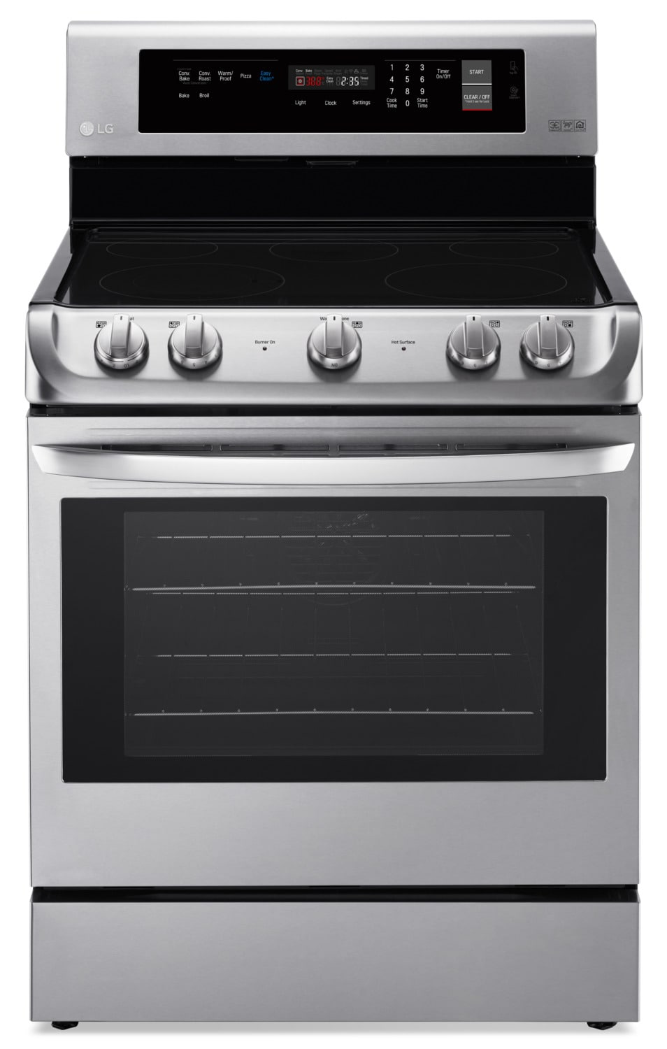 LG Appliances Stainless Steel Freestanding Electric Convection Range (6.3 Cu. Ft) - LRE4211ST