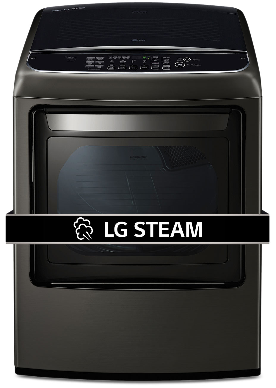 LG Appliances Black Stainless Steel Electric Dryer  (7.3 Cu. Ft.) - DLEY1901KE
