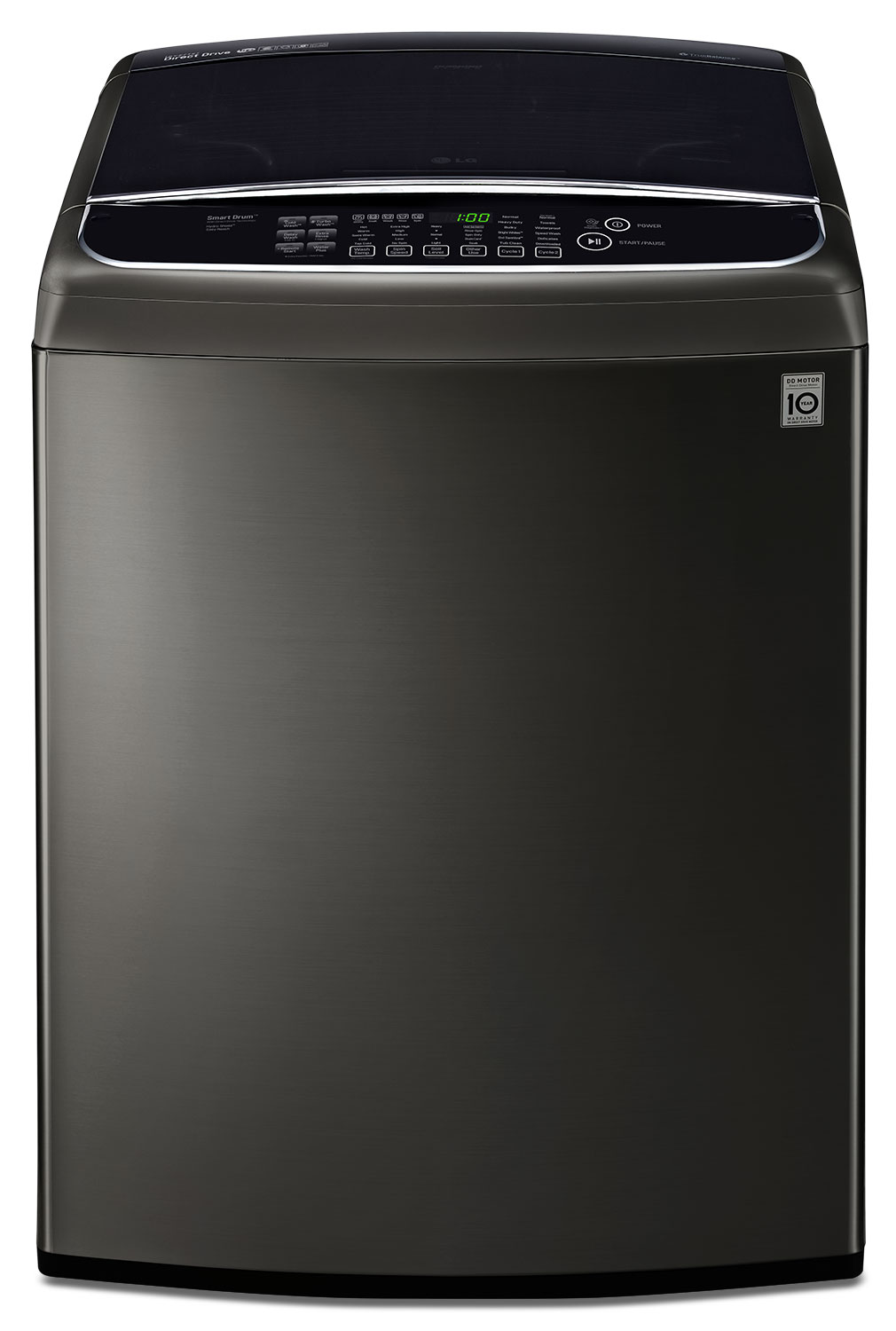 LG Appliances Black Stainless Steel Top-Load Washer (5.8 Cu. Ft. IEC) - WT1901CK