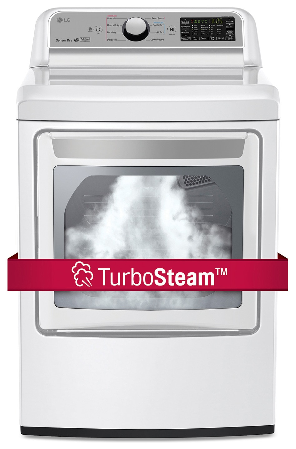 LG Appliances White TurboSteam Electric Dryer (7.3 Cu. Ft.) - DLEX7200W