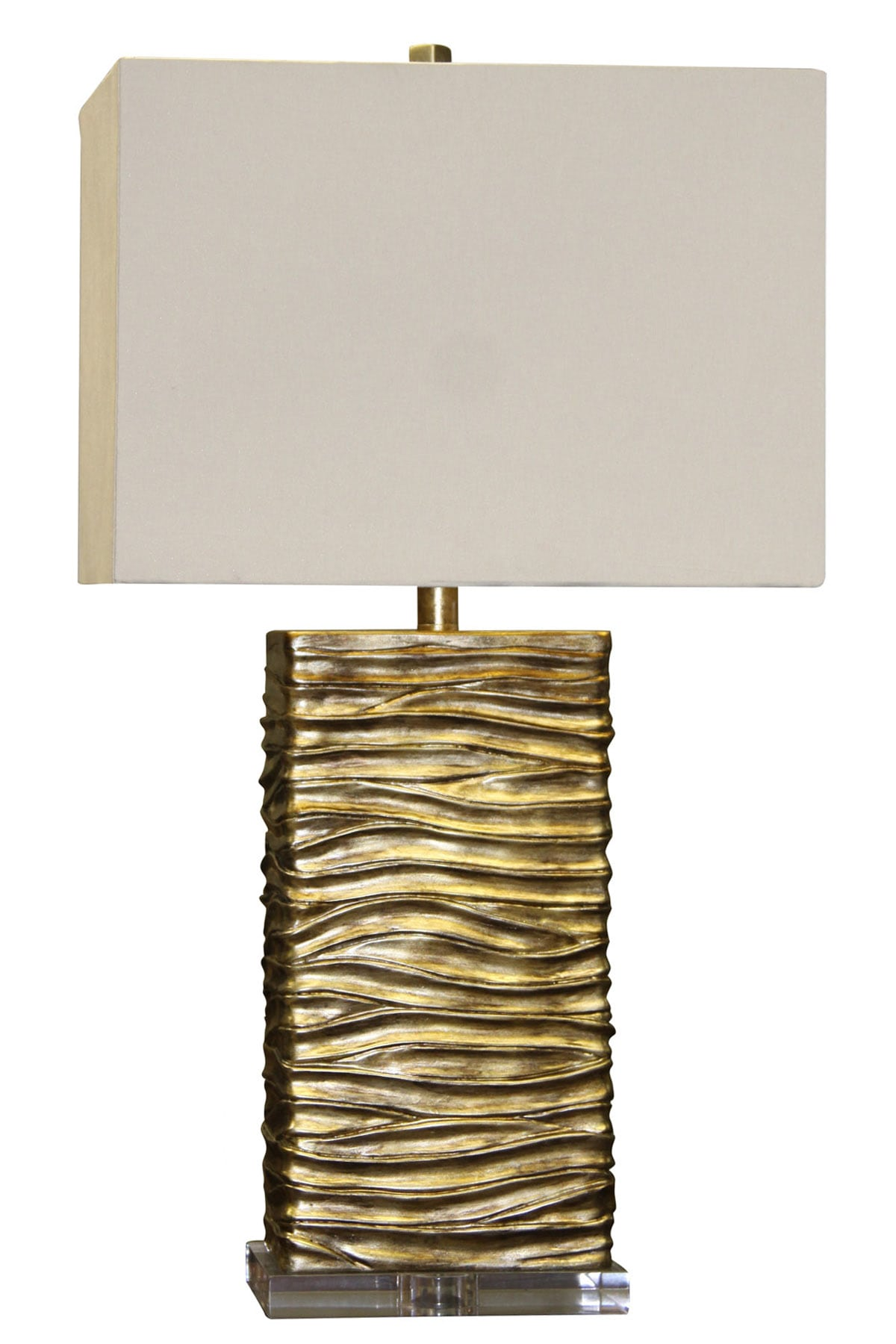 Mercury Golden Wave Table Lamp