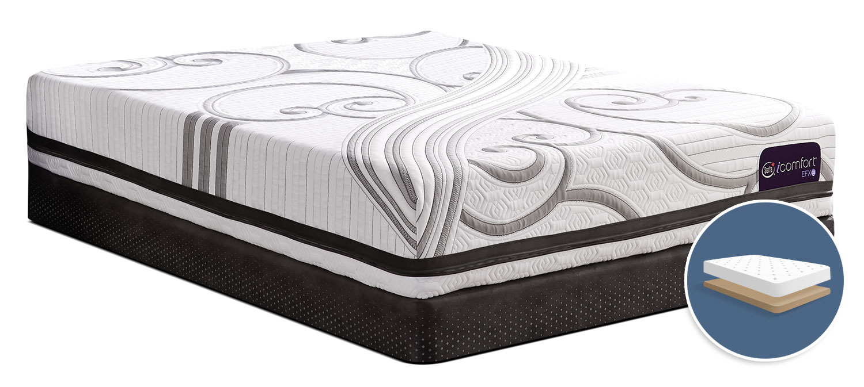 Mattresses and Bedding - Serta iComfort® Fascinating Tight-Top Low-Profile King Mattress Set