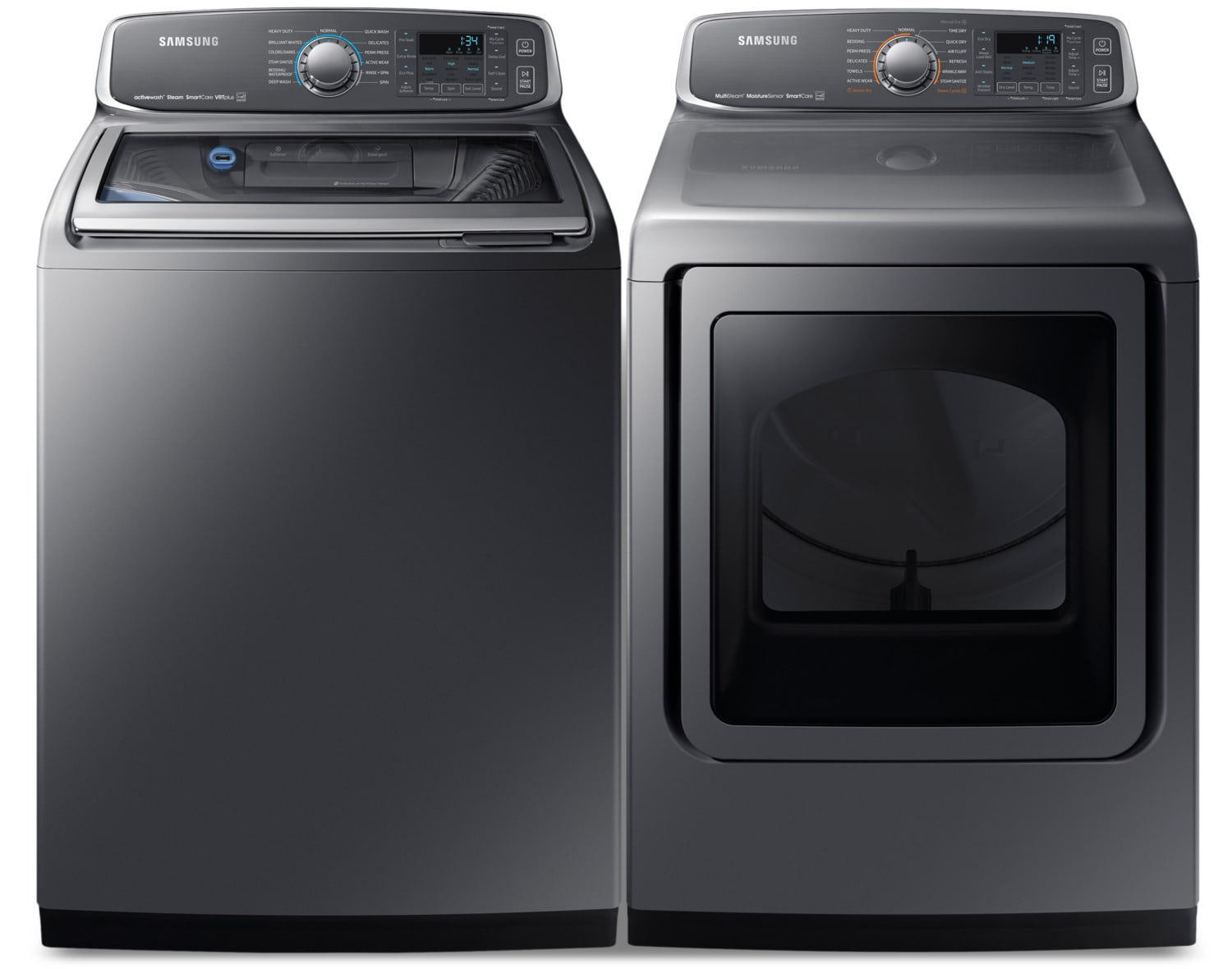 Uncategorized Appliances Kitchener Waterloo washer and dryer pairs leons samsung laundry wa52m7755apa4 dve52m7750pac