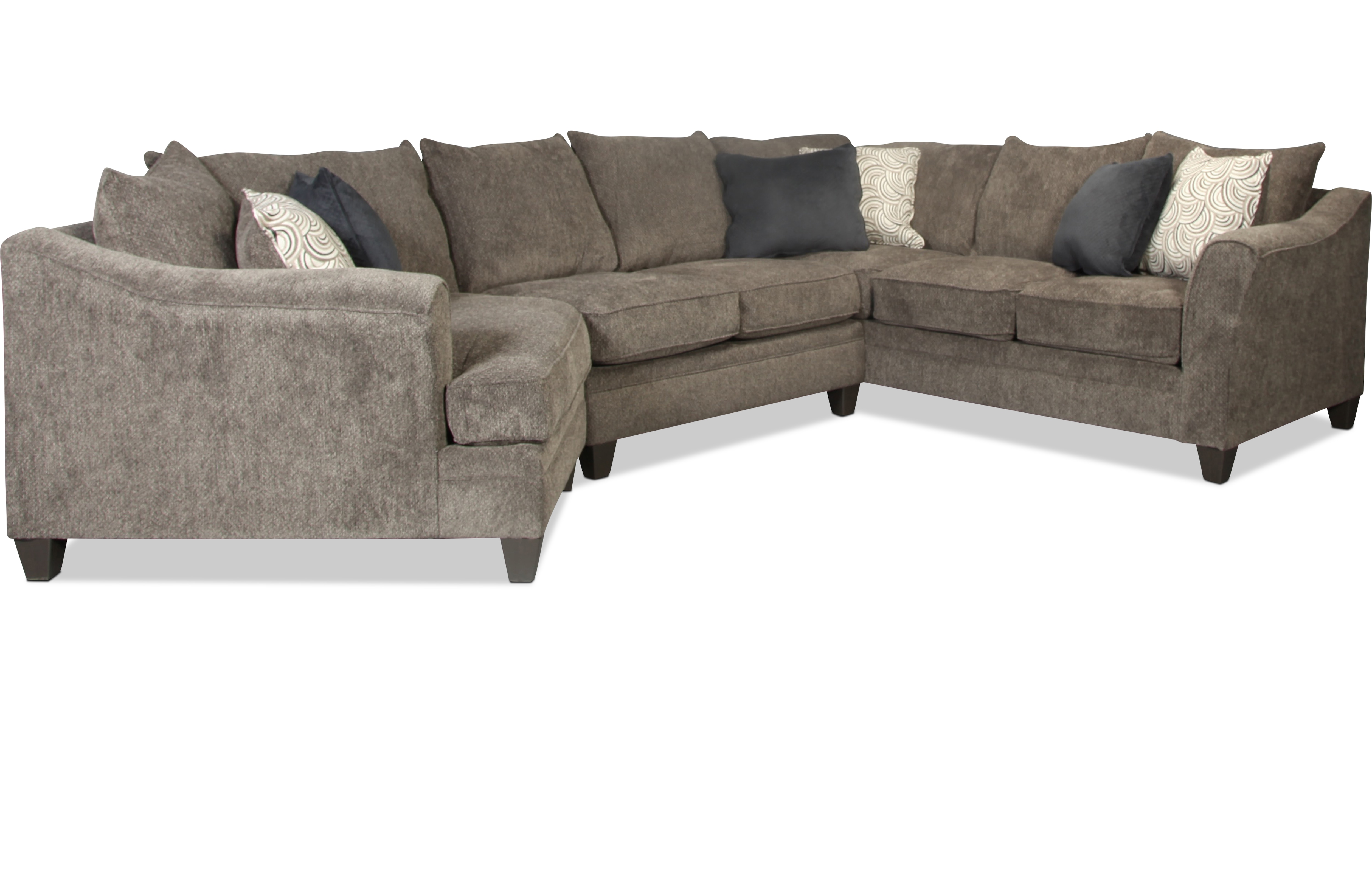 Desmond 3 Piece Sectional - Pewter