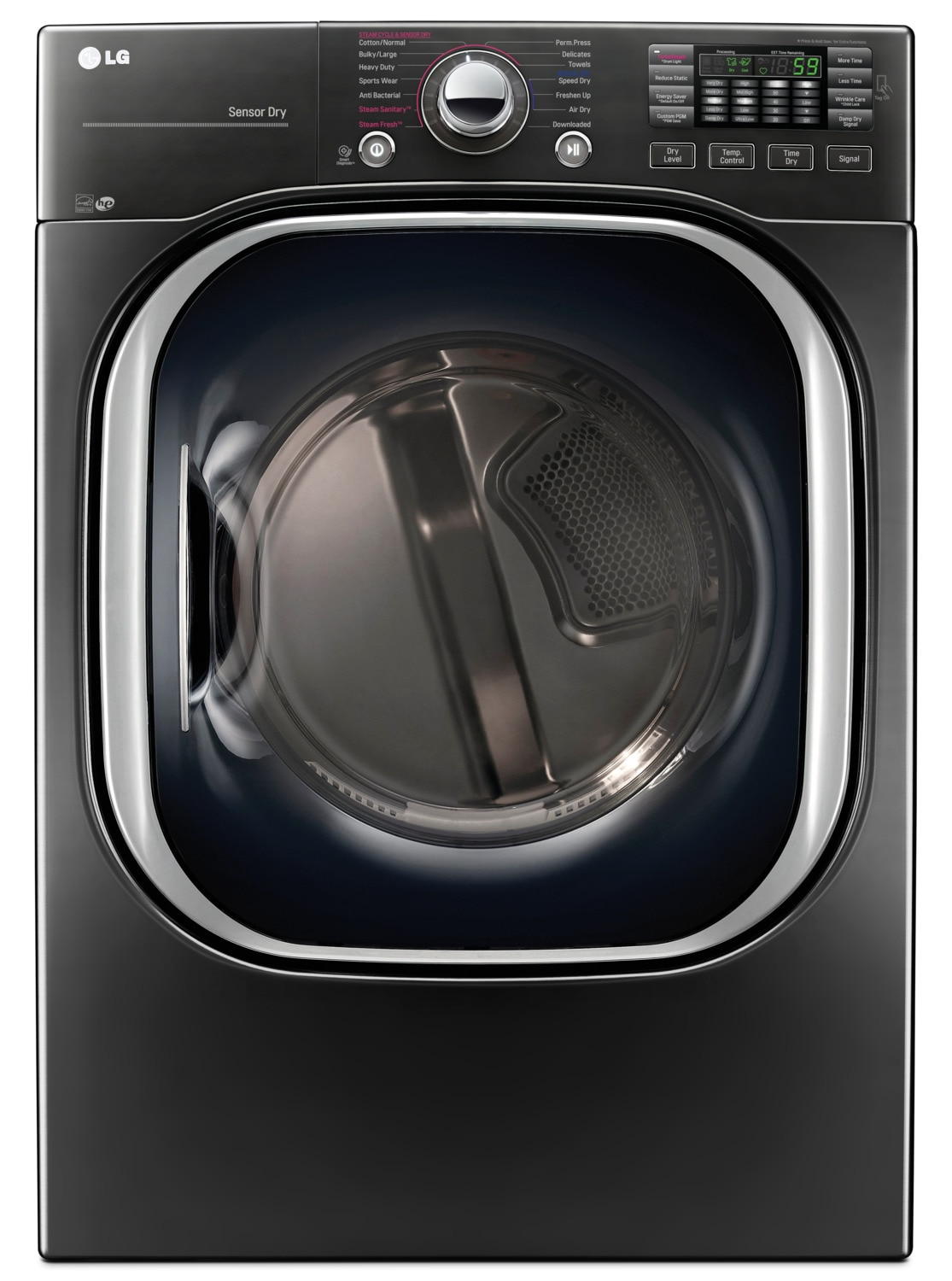 Washers and Dryers - LG 7.4 Cu. Ft. Electric Dryer with TurboSteam™ – DLEX4370K