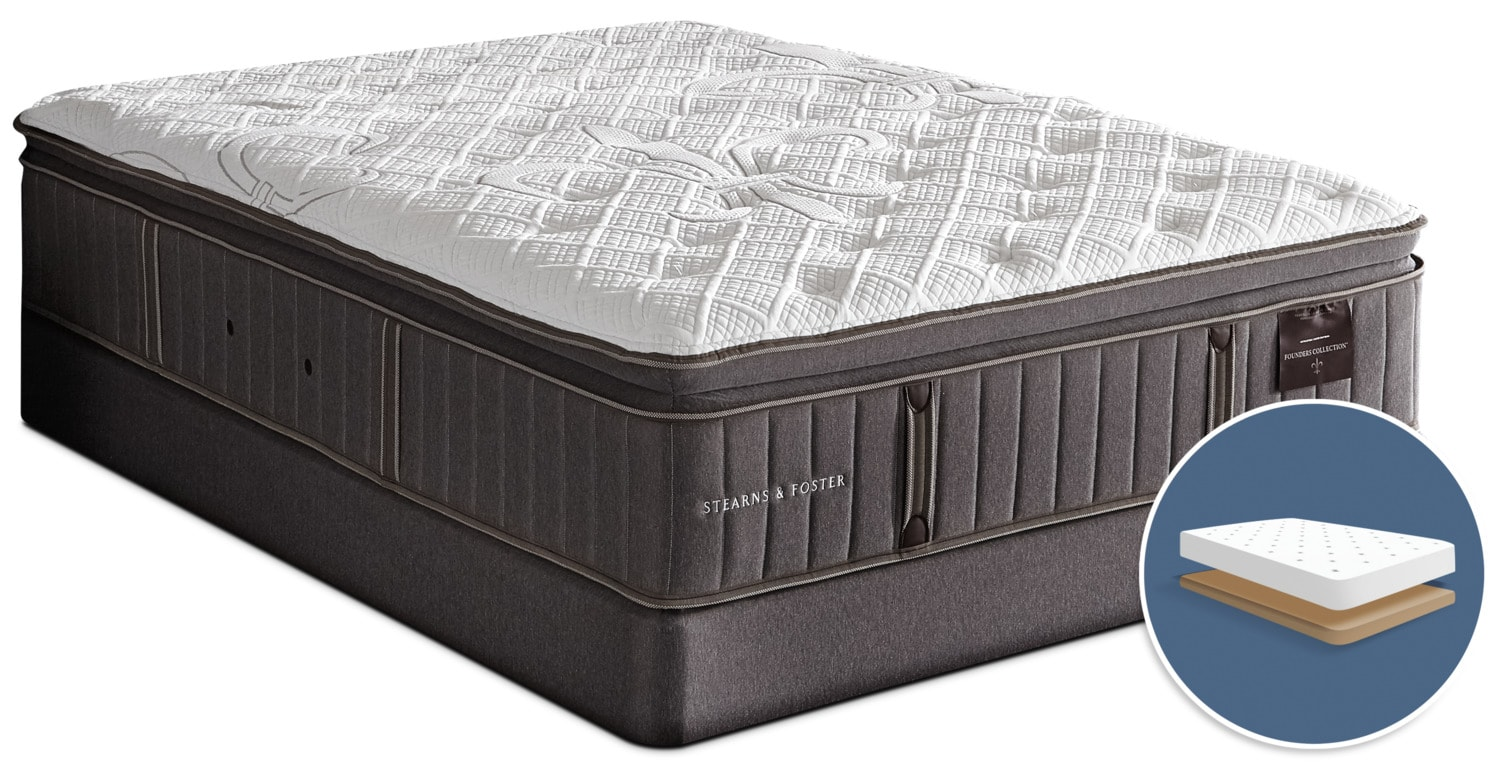 Stearns & Foster Albert Park Pillow -Top Firm Low-Profile Full Mattress Set