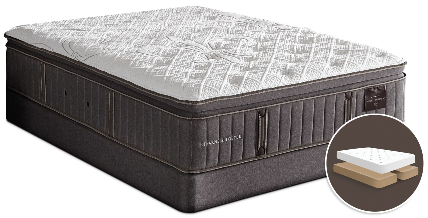 Stearns & Foster Albert Park Pillow -Top Firm Split Queen Mattress Set