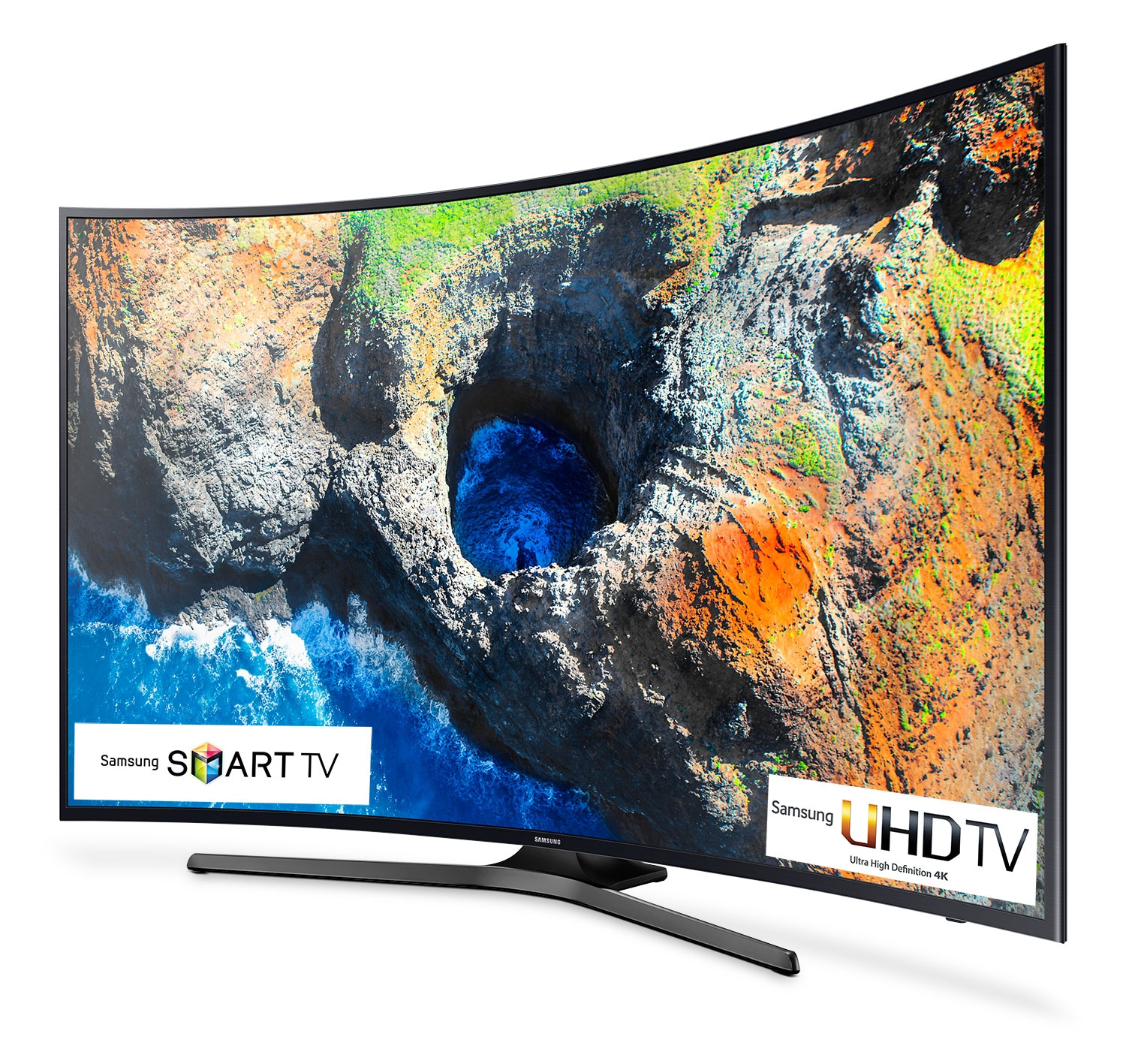 "Samsung 55"" 4K UHD Curved Smart LED TV - UN55MU6500FXZC"