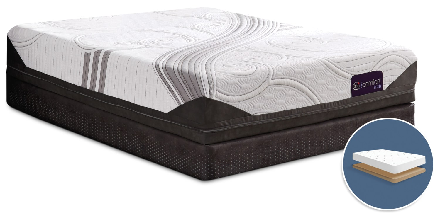 Mattresses and Bedding - Serta iComfort® Stunning Tight-Top Low-Profile Queen Mattress Set