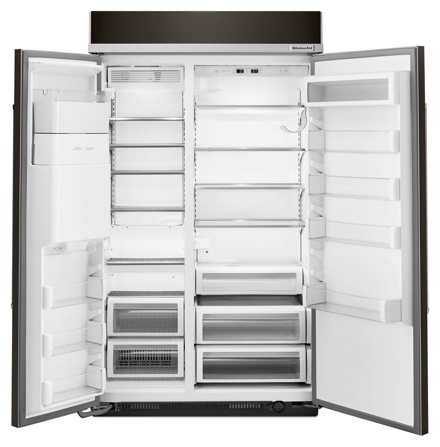 kitchenaid 29.5 cu. ft. built-in side-by-side refrigerator