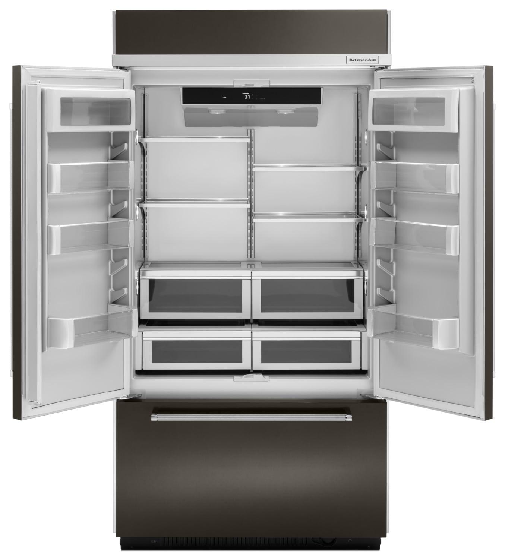 Kitchenaid 43 24 2 Cu Ft Built In French Door: KitchenAid 24.2 Cu. Ft. Built-In French-Door Refrigerator – KBFN502EBS