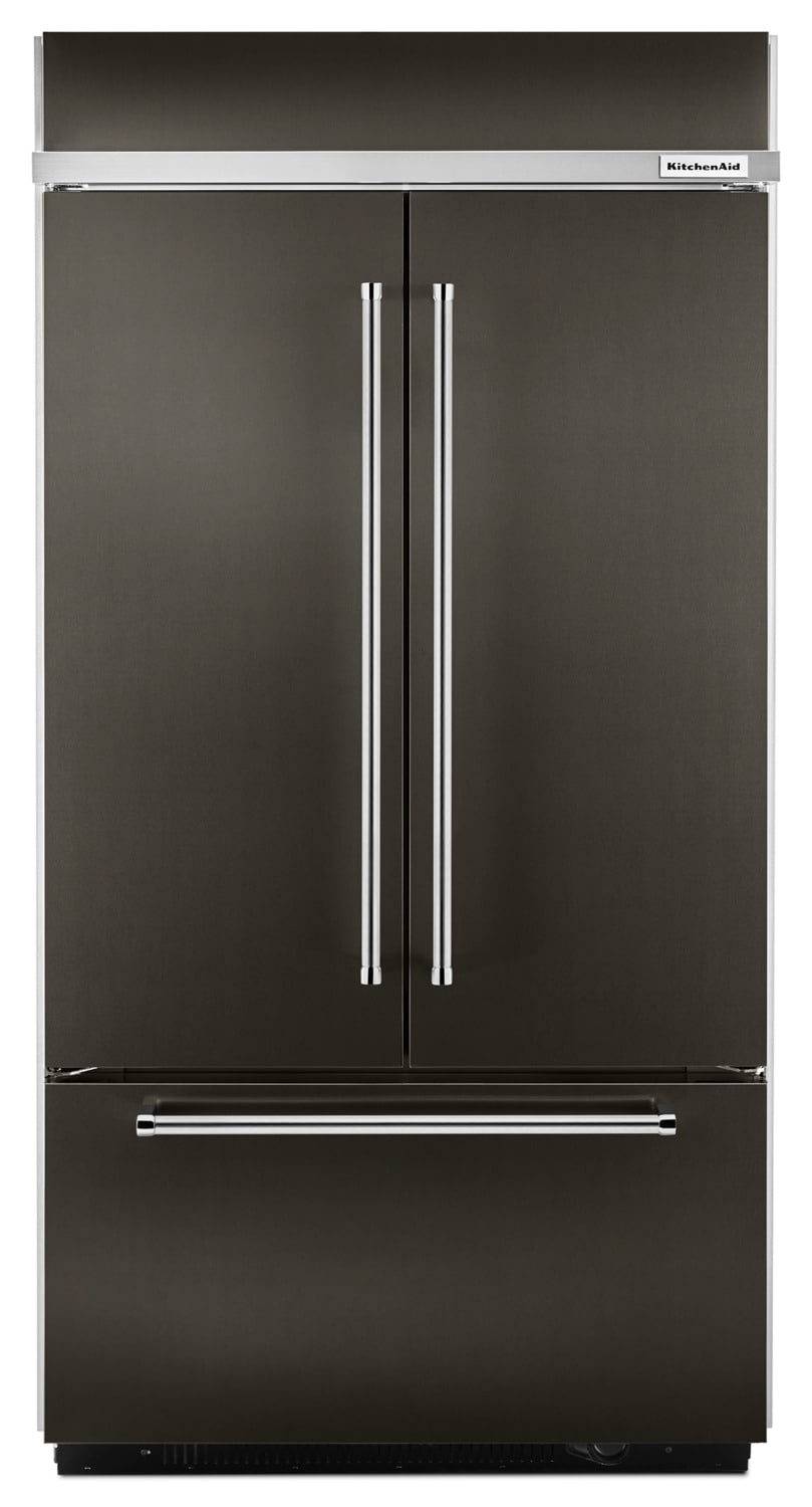 KitchenAid 24.2 Cu. Ft. Built-In French-Door Refrigerator – KBFN502EBS