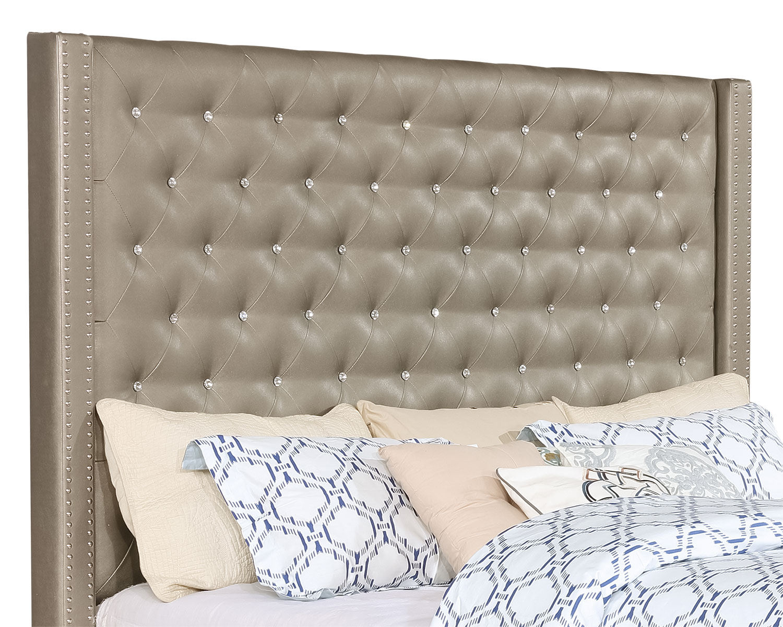 t te de lit diva en similicuir pour tr s grand lit brick. Black Bedroom Furniture Sets. Home Design Ideas