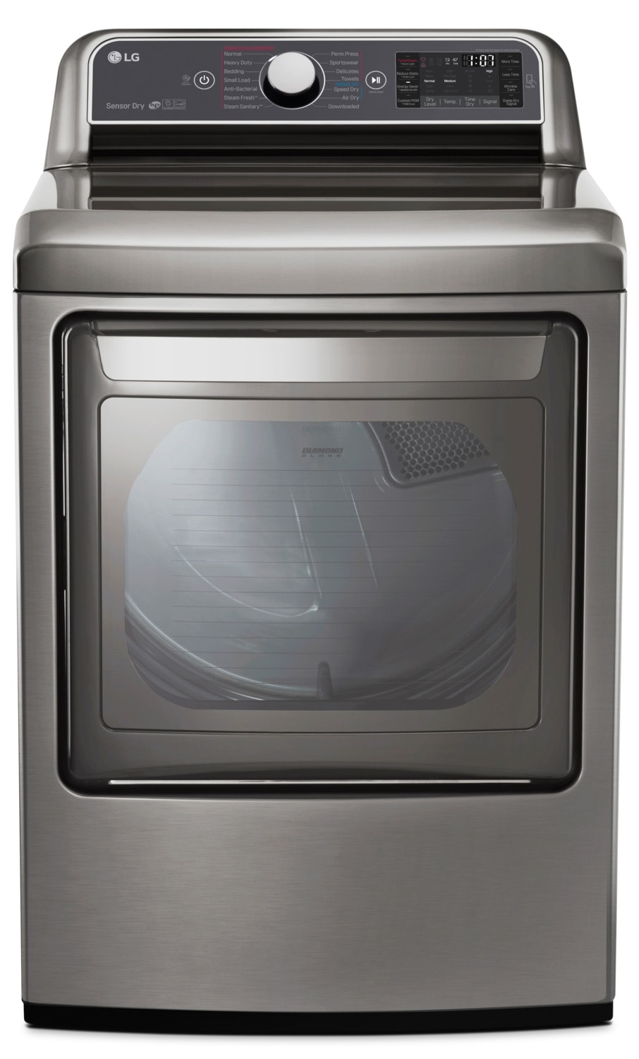 LG 7.3 Cu. Ft. TurboSteam™ Electric Dryer with EasyLoad - DLEX7600VE
