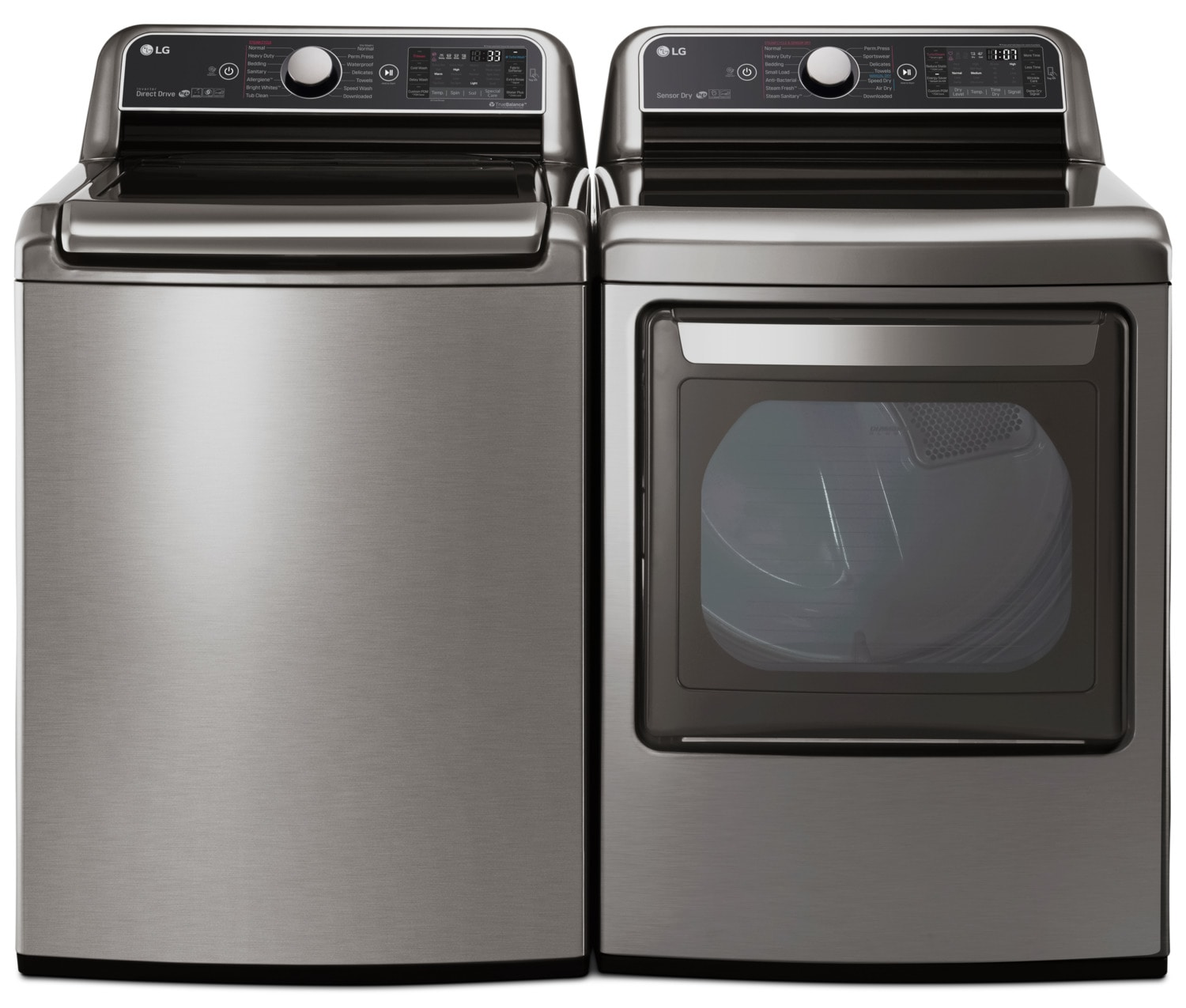 LG 6.0 Cu. Ft. Top-Load Steam™ Washer and 7.3 Cu. Ft. TurboSteam™ Electric Dryer