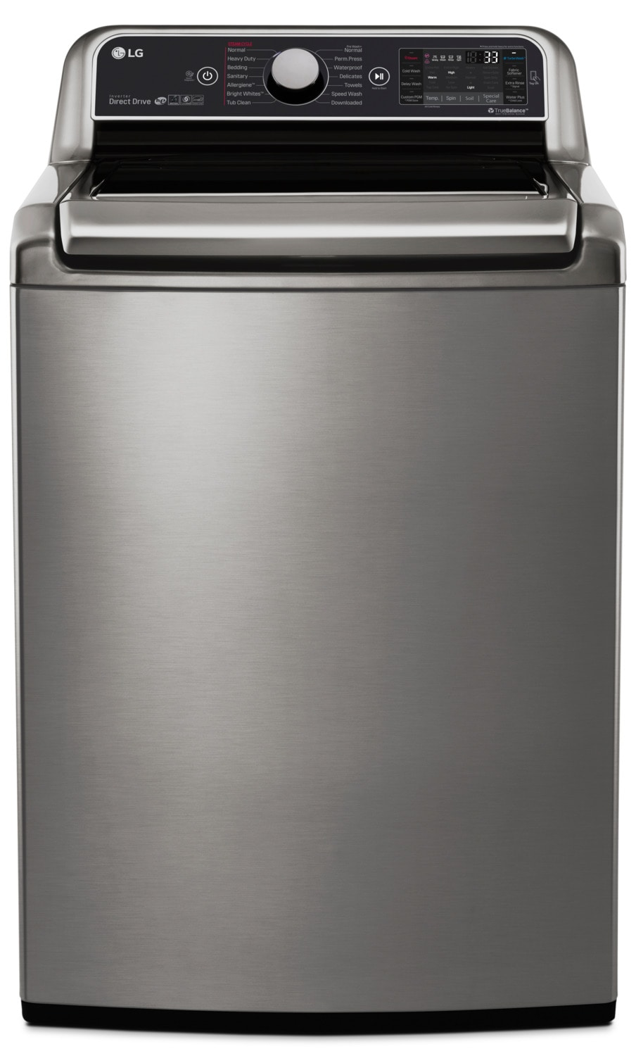 Washers and Dryers - LG 6.0 Cu. Ft. Top-Load Steam™ Washer with TurboWash - WT7600HVA