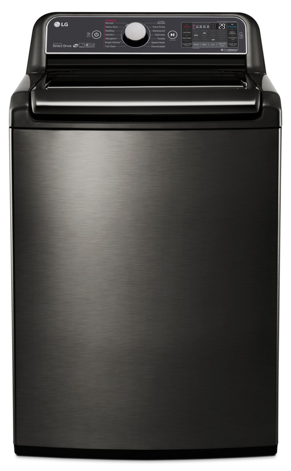 LG 6.0 Cu. Ft. Top-Load Steam™ Washer with TurboWash™ – WT7600HKA