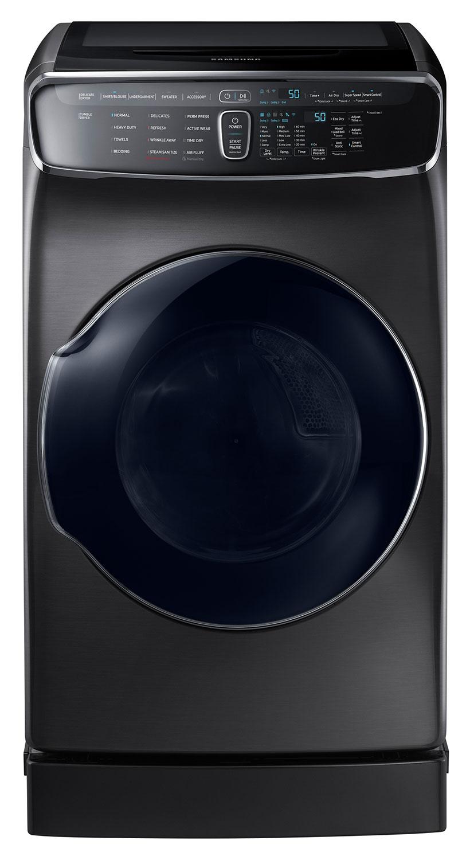 Samsung Black Stainless Steel Electric Dryer (7.5 Cu. Ft.) - DVE60M9900V/AC