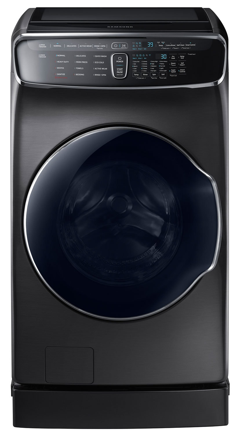 Samsung Black Stainless Steel Washer (6.9 Cu. Ft. IEC) - WV60M9900AV/A5
