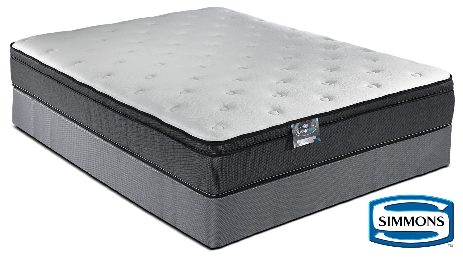 Simmons BeautySleep Jenna Firm Queen Mattress and Boxspring Set