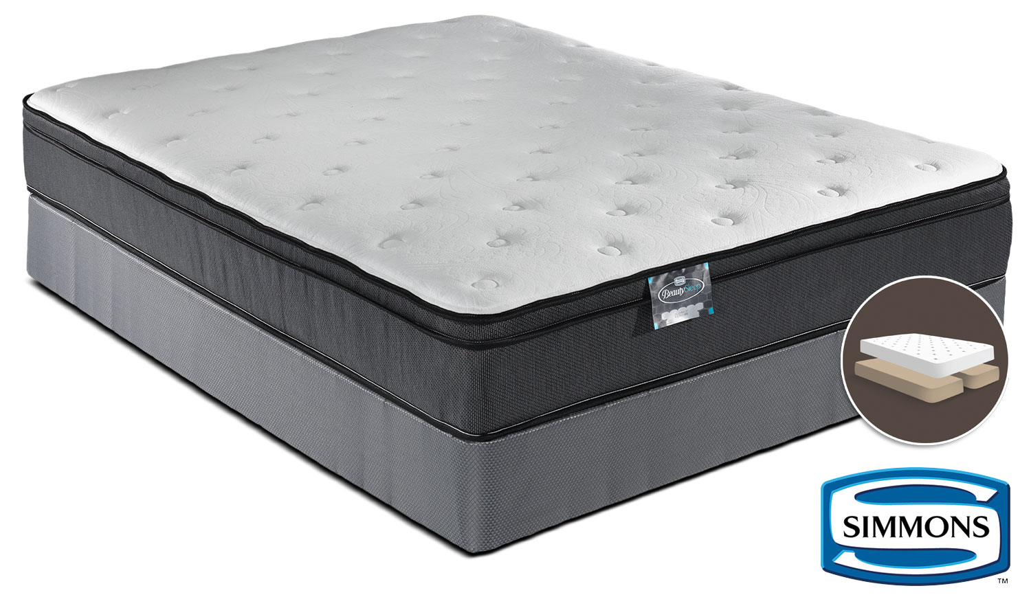 Simmons BeautySleep Jenna Firm King Mattress and Split Boxspring Set