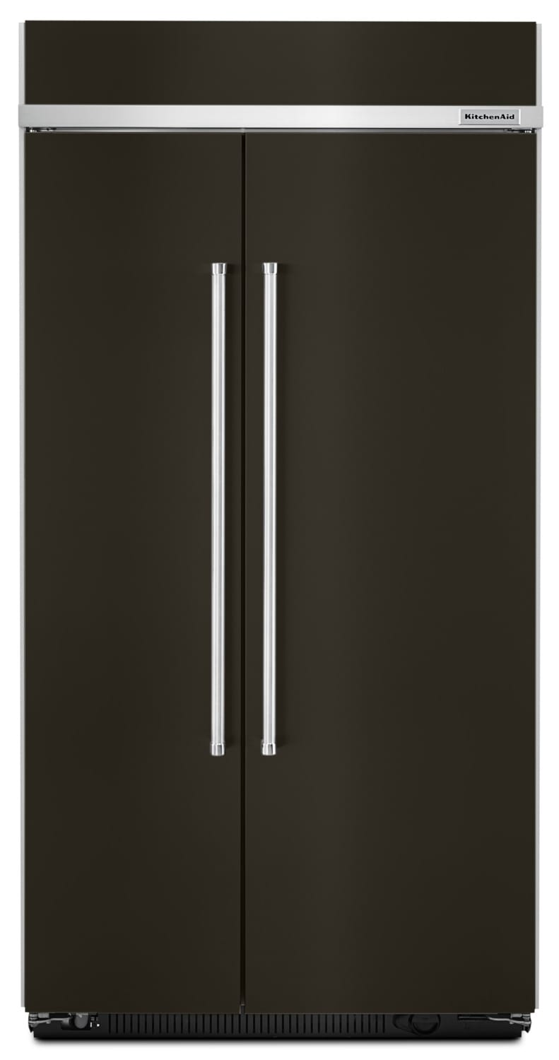 KitchenAid 25.5 Cu. Ft. Built-In Side-by-Side Refrigerator – KBSN602EBS