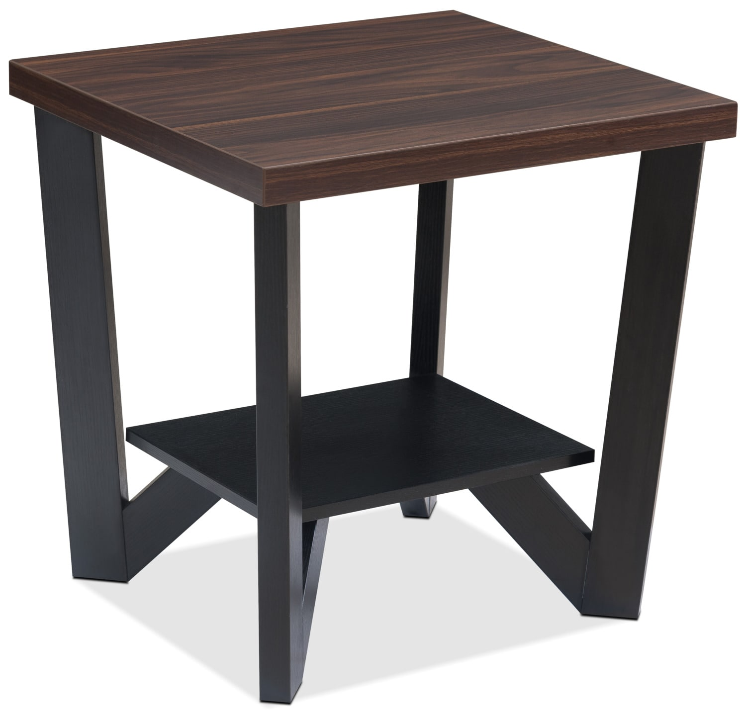 Arika 3 Piece Coffee And Two End Tables Package Black The Brick