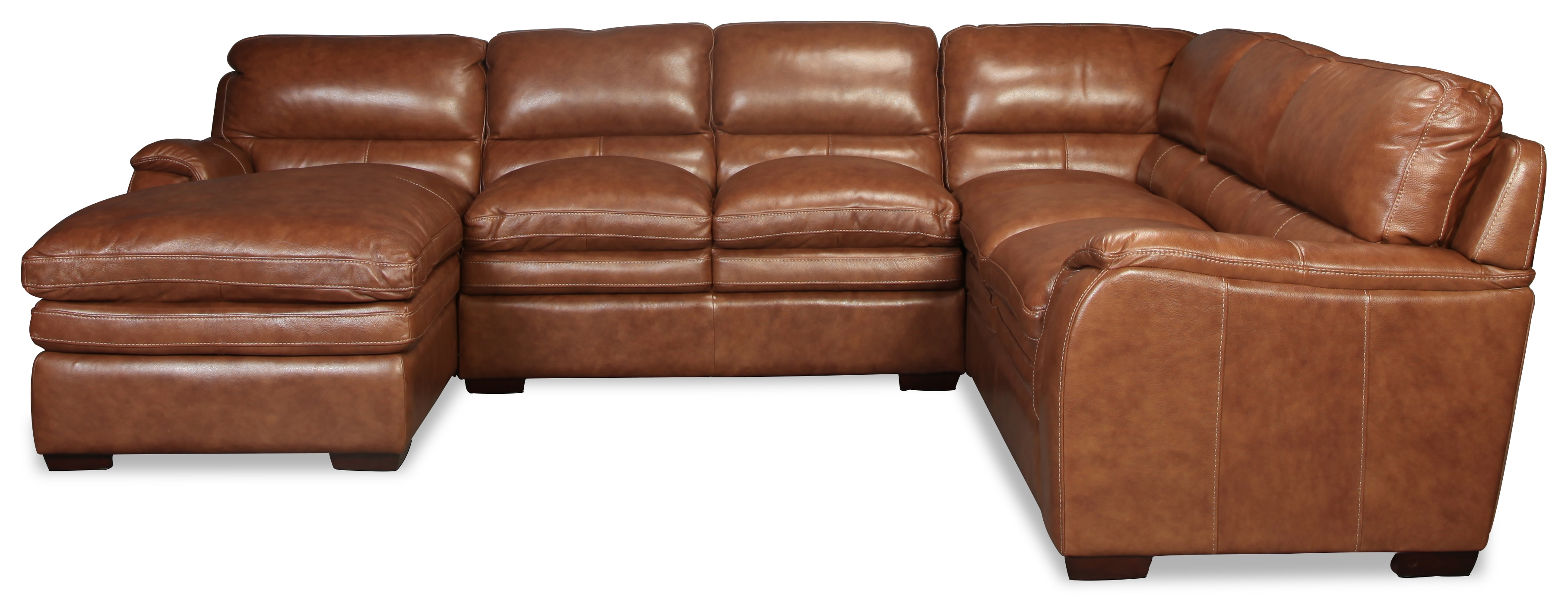Living Room Furniture - Meridian 3 pc. Leather Sectional