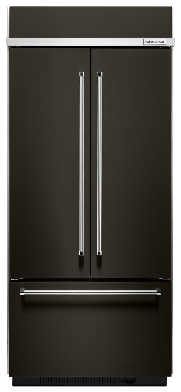Réfrigérateurs et Congélateurs - Réfrigérateur encastré KitchenAid de 20,8 pi³ à portes françaises – KBFN506EBS