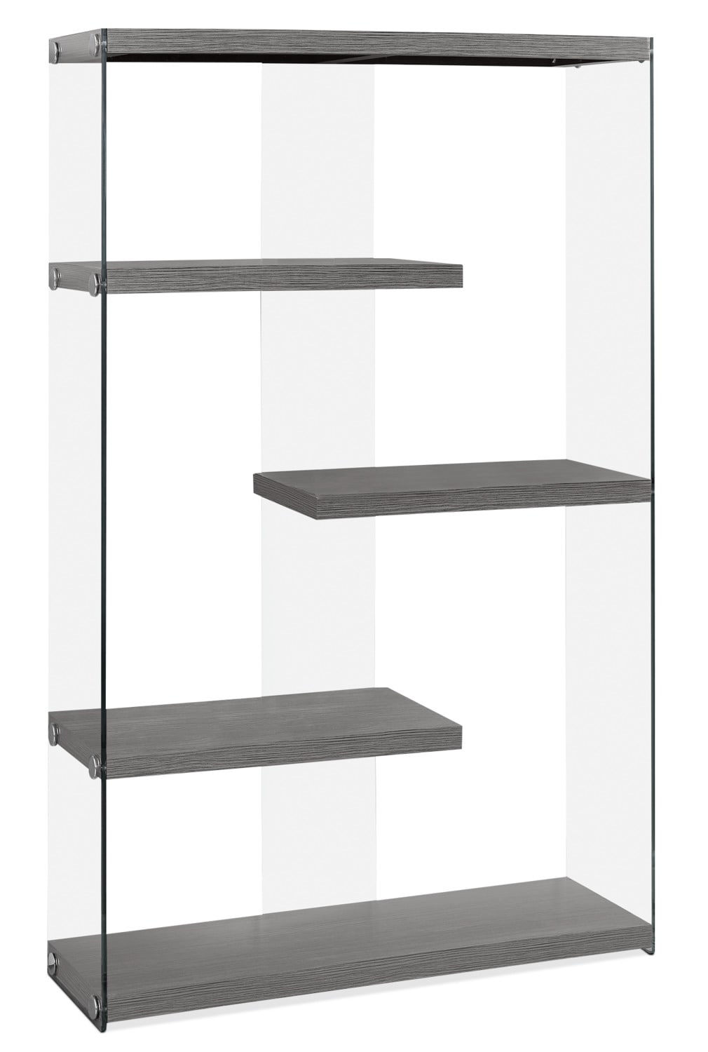 Yonah Wide Bookcase – Grey