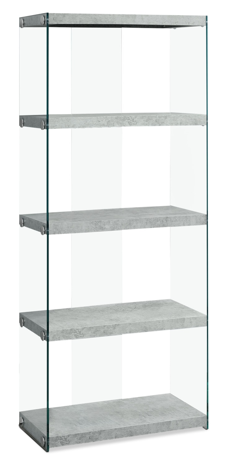 Yonah Tall Bookcase – Cement Grey