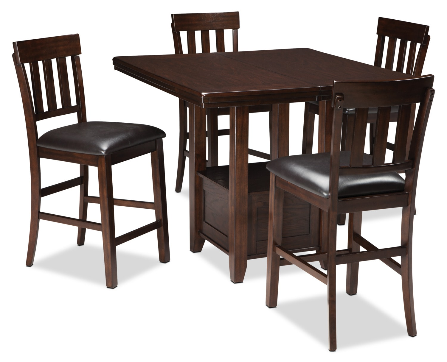 Dining Room Furniture - Haddigan 5-Piece Counter-Height Dining Package