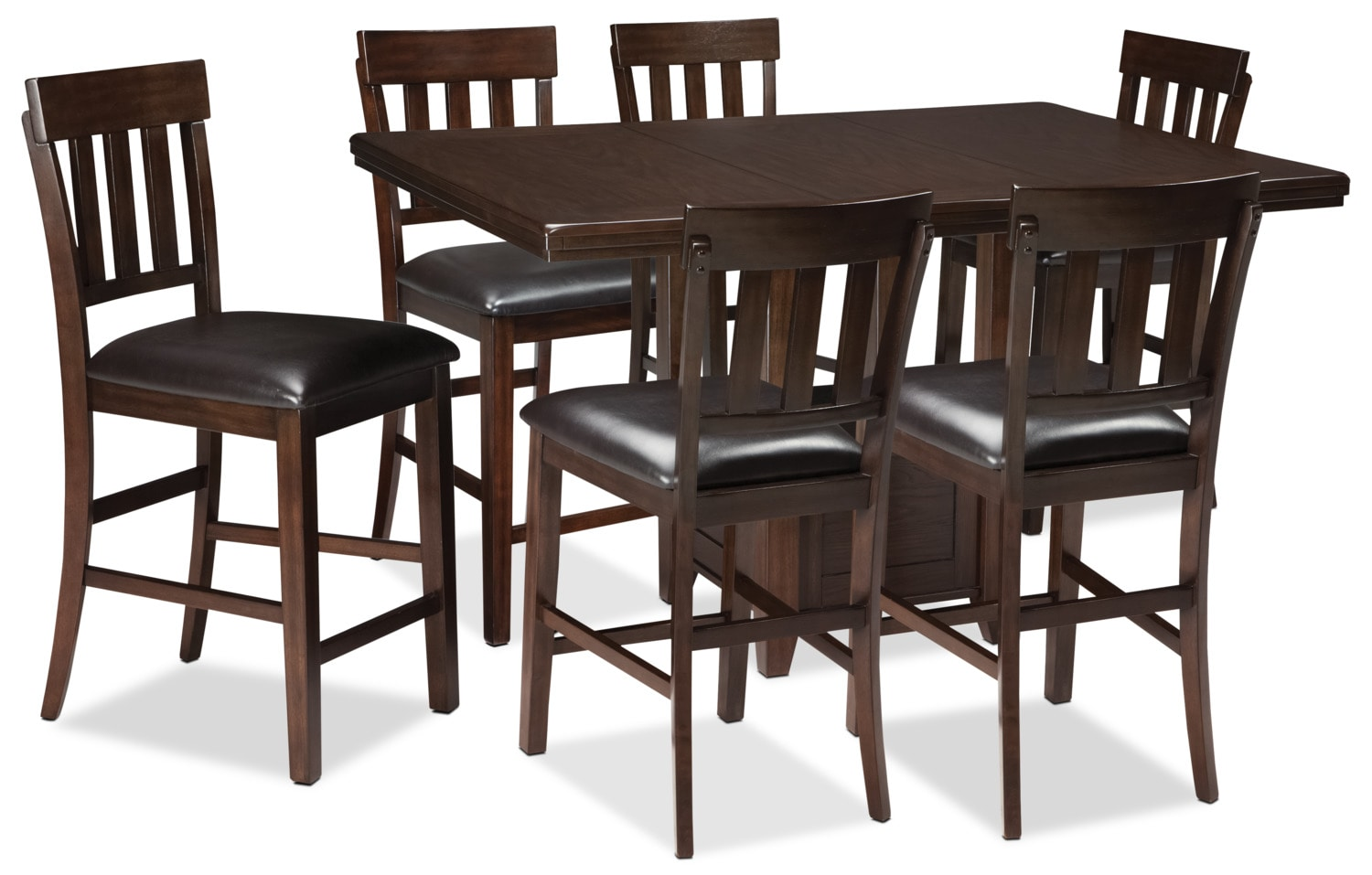 Dining Room Furniture - Haddigan 7-Piece Counter-Height Dining Package