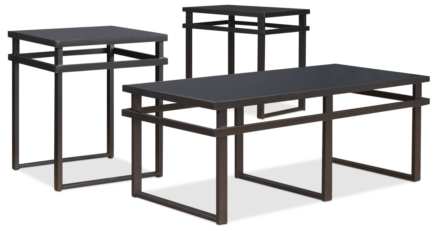 Accent and Occasional Furniture - Laney 3-Piece Coffee and Two End Tables Package