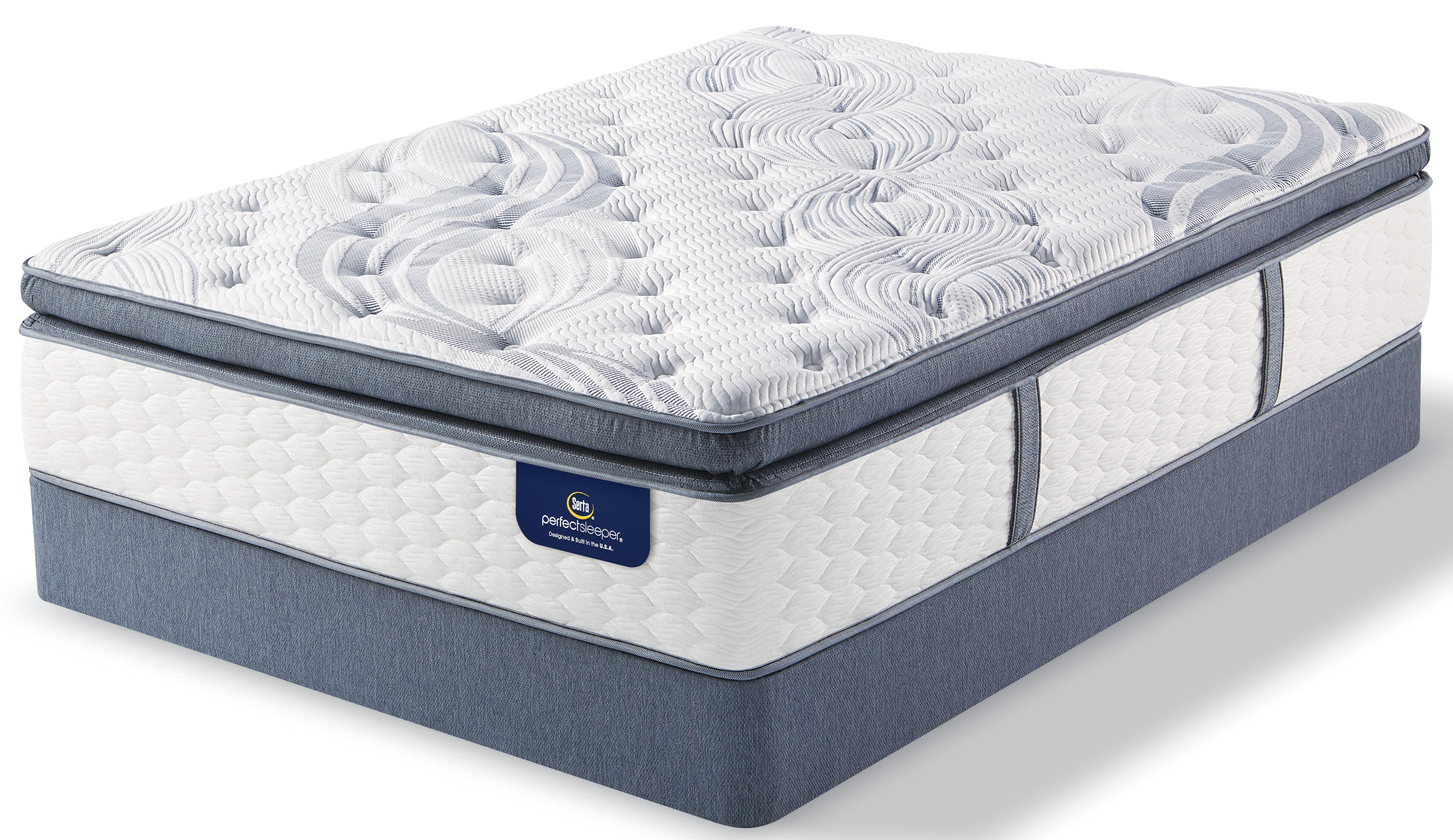 Luxury Perfect Sleeper Super Pillowtop Queen Mattress and Boxspring